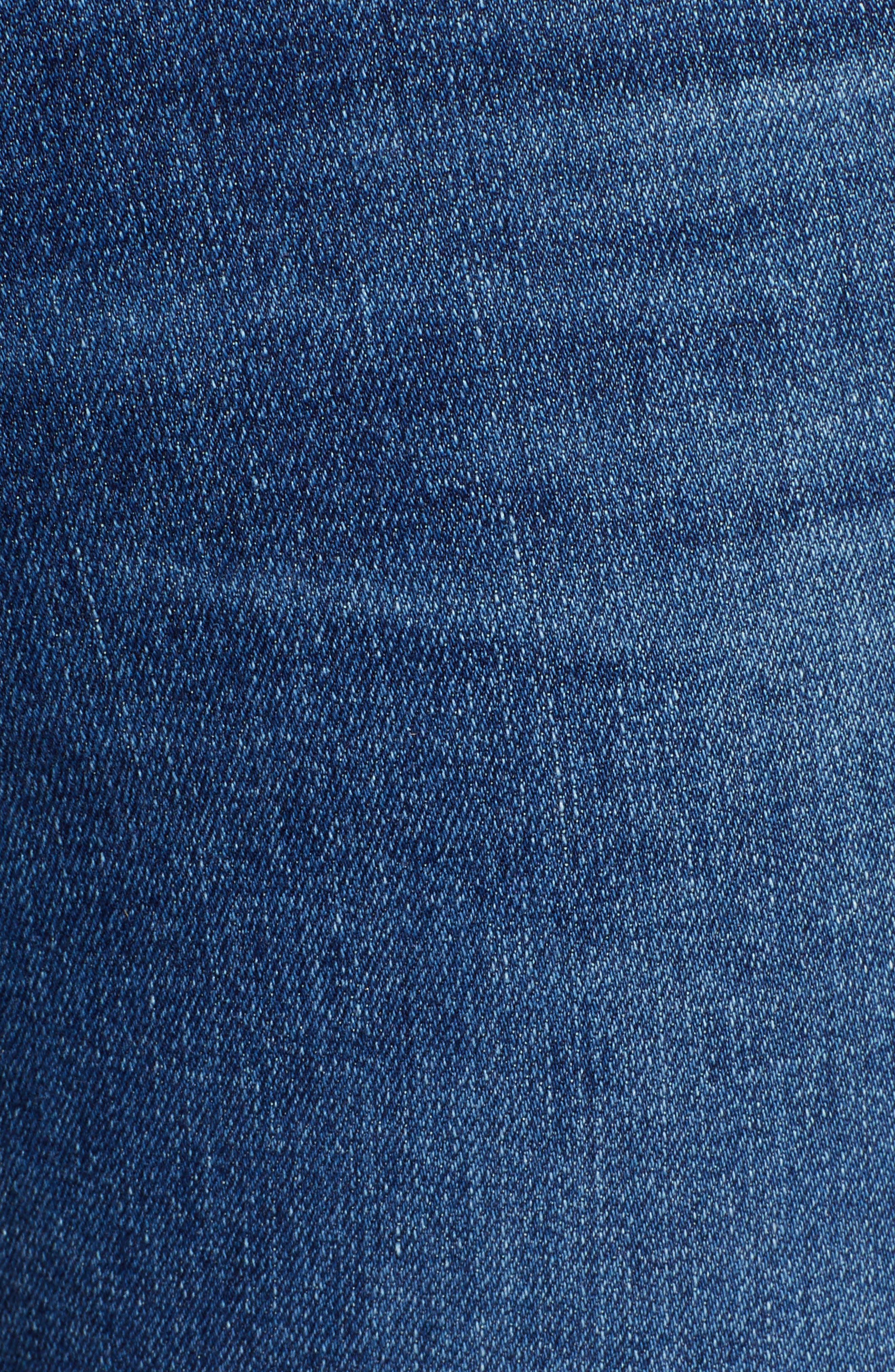 AG,                             The Mila Super High Waist Ankle Skinny Jeans,                             Alternate thumbnail 6, color,                             CRYSTAL CLARITY
