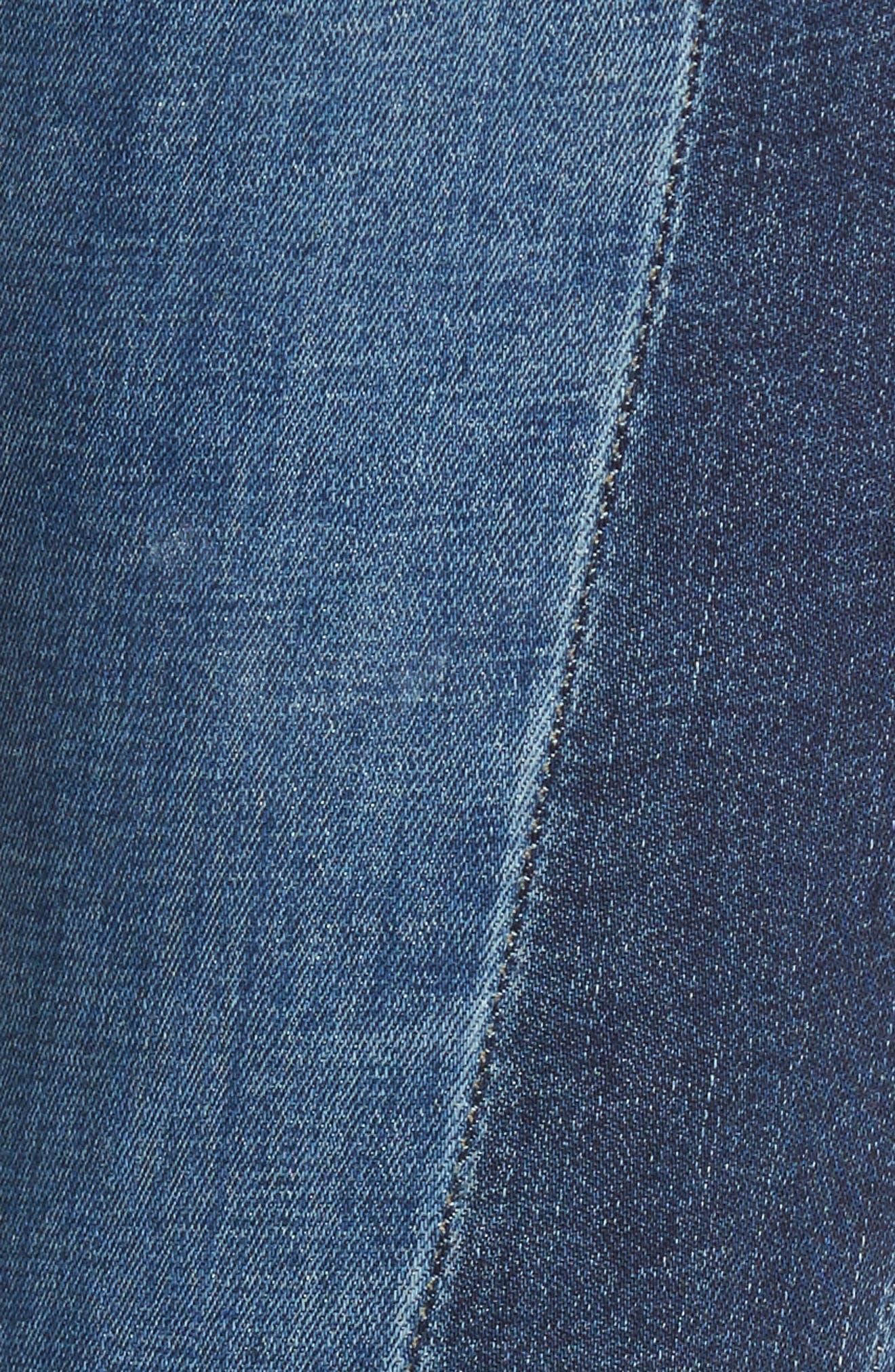 Step Hem Skinny Jeans,                             Alternate thumbnail 5, color,                             400