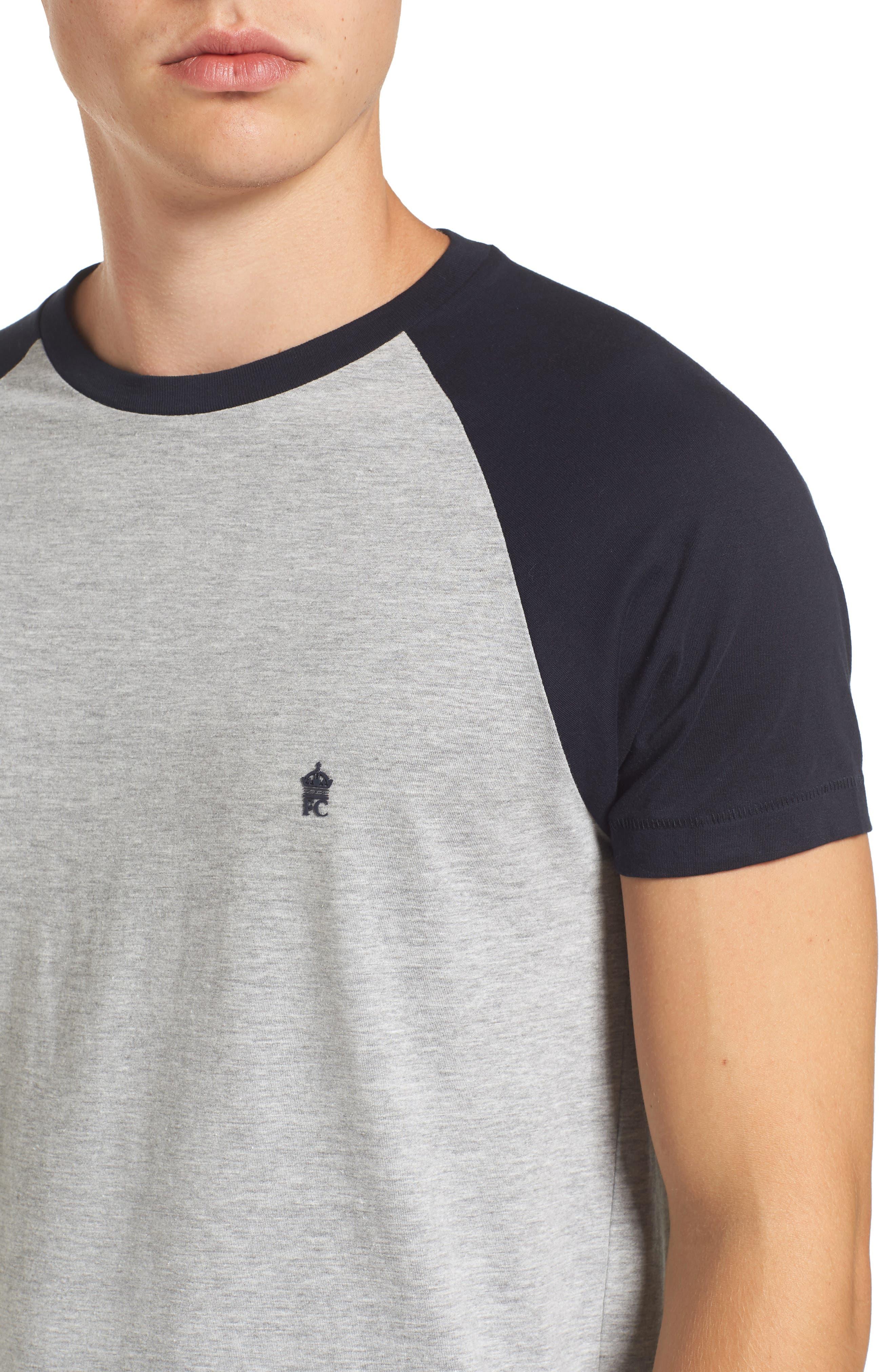 Raglan Short Sleeve T-Shirt,                             Alternate thumbnail 4, color,                             052
