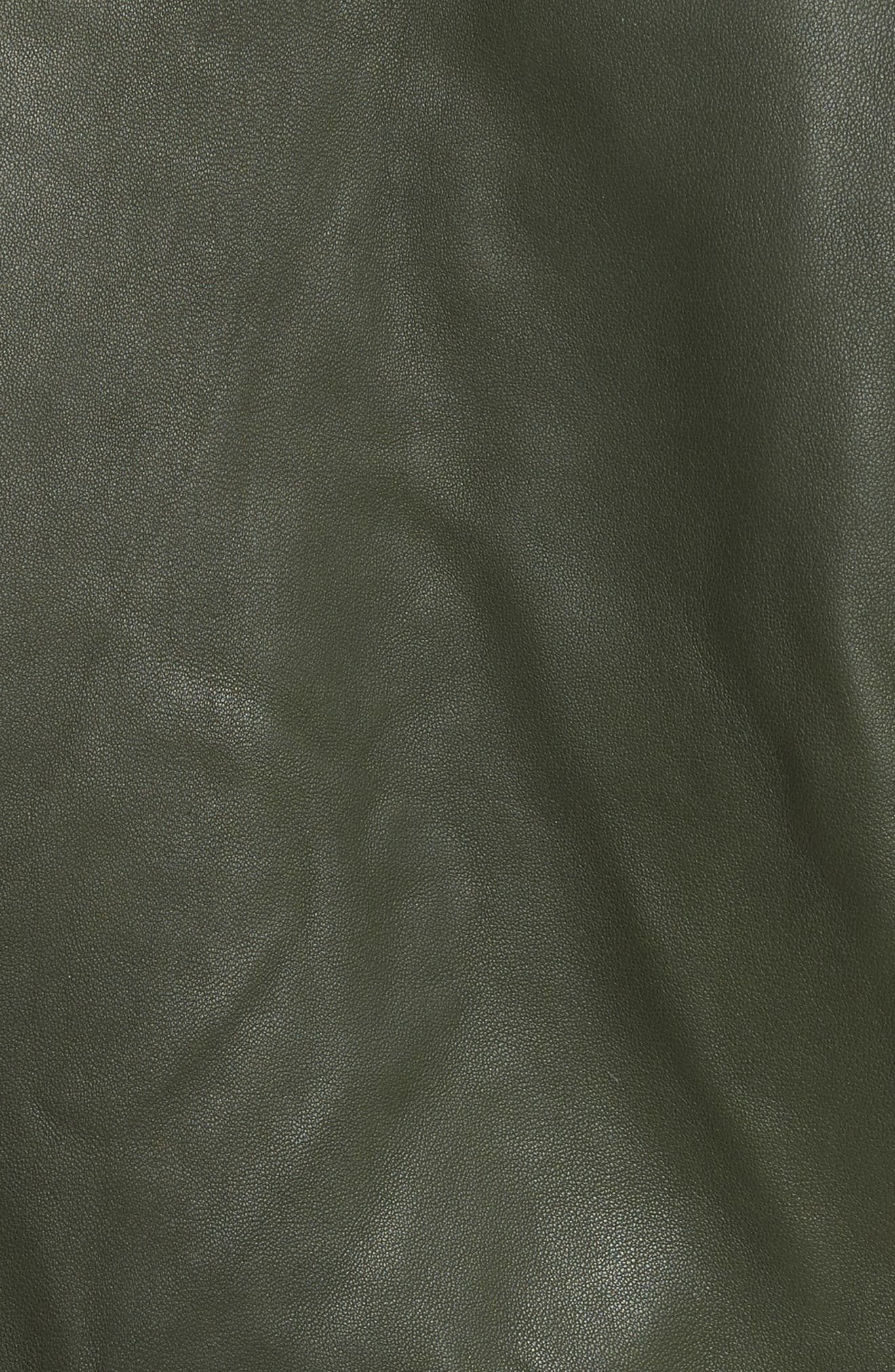 Jayne Orion Lambskin Leather Moto Jacket,                             Alternate thumbnail 5, color,                             319