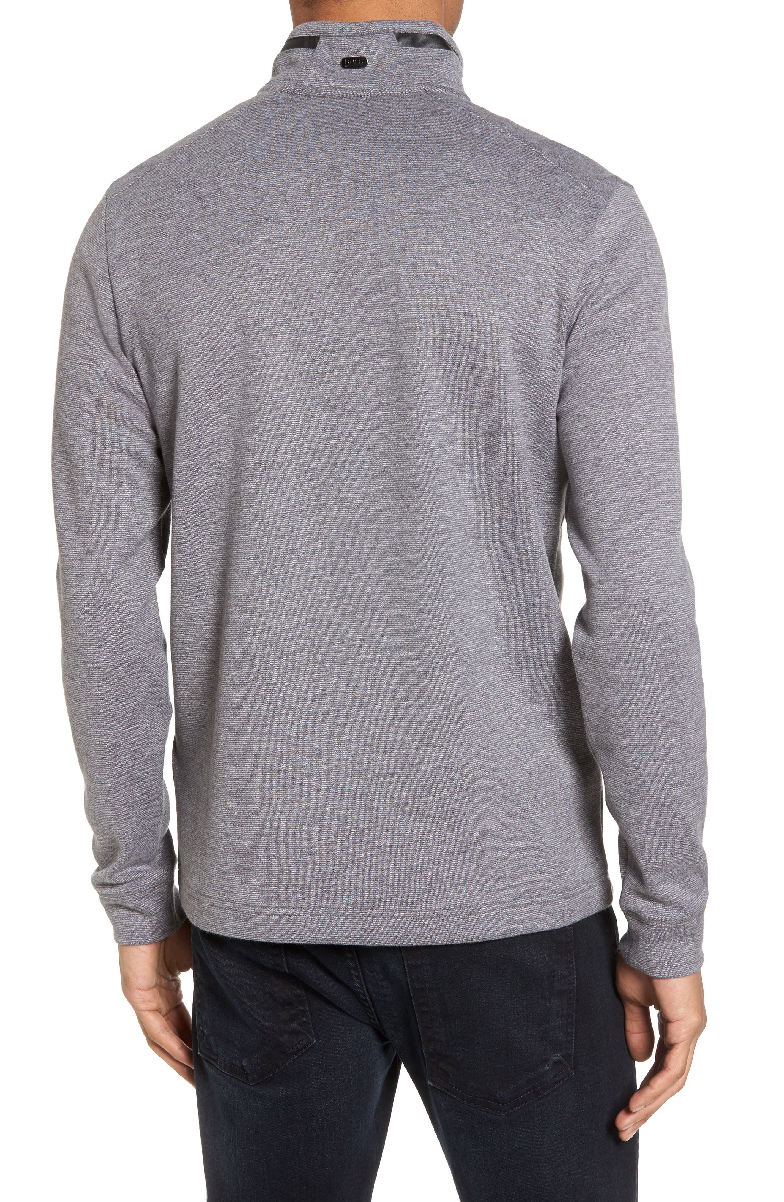 C-Piceno Quarter Zip Fleece Pullover,                             Alternate thumbnail 5, color,
