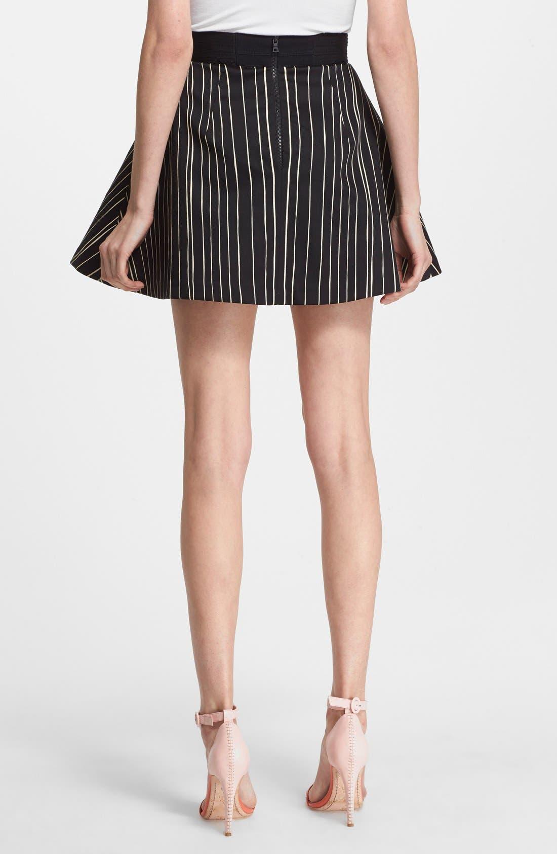 'Libby' Stripe Flared Skirt,                             Alternate thumbnail 3, color,