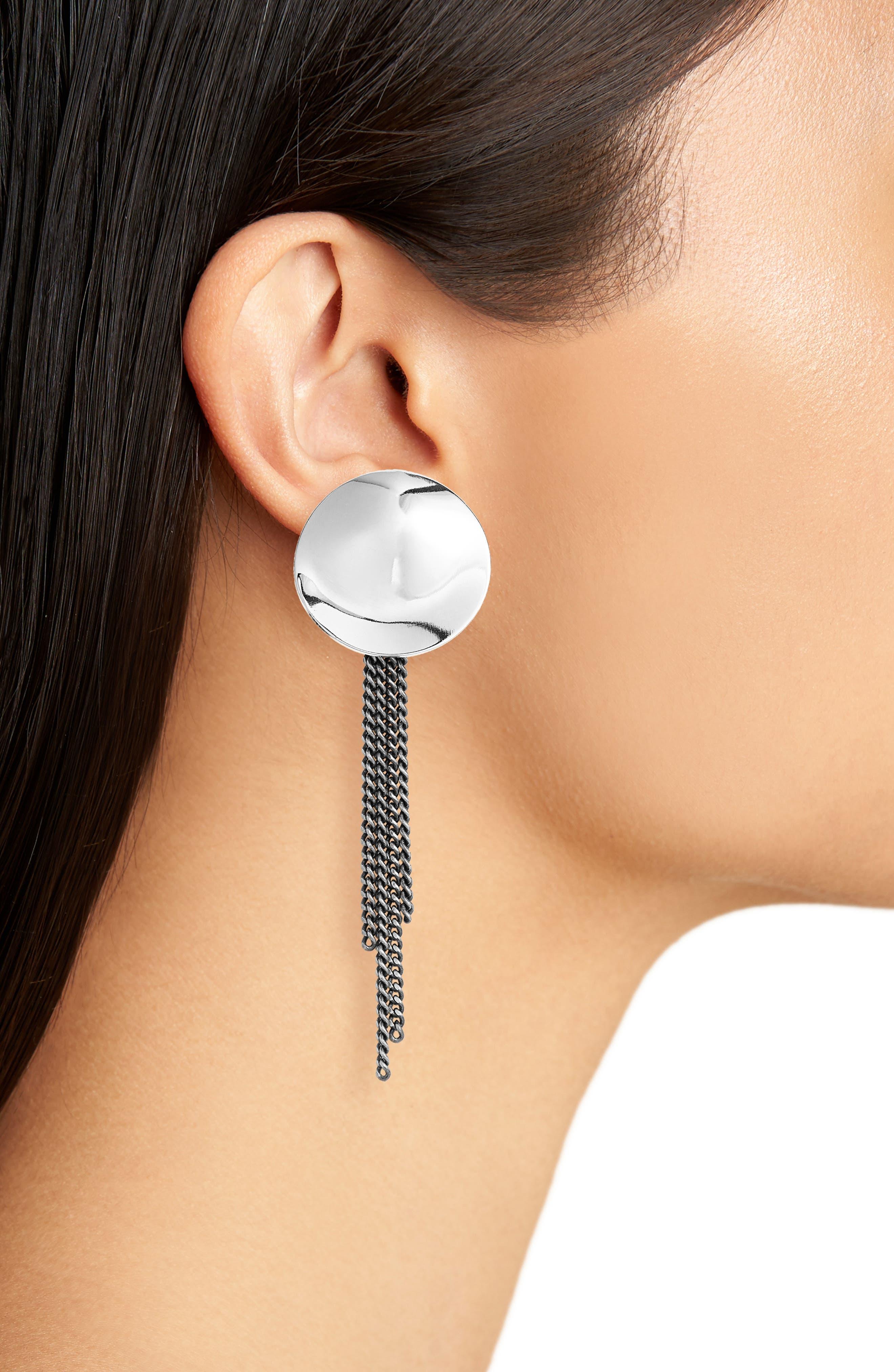 Penny Moon Duster Earrings,                             Alternate thumbnail 3, color,