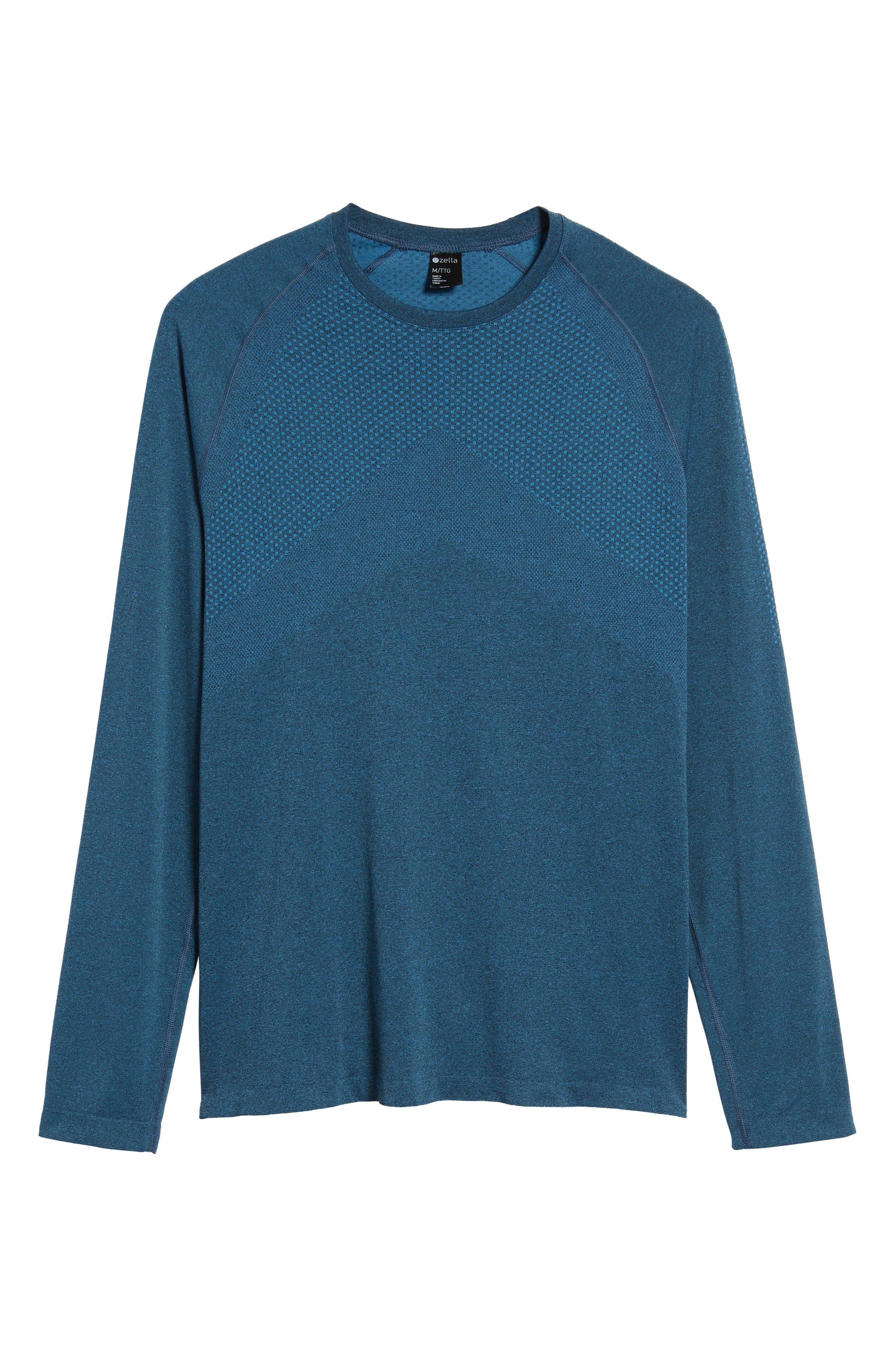 Zeolite Long Sleeve Performance T-Shirt,                             Alternate thumbnail 6, color,                             050