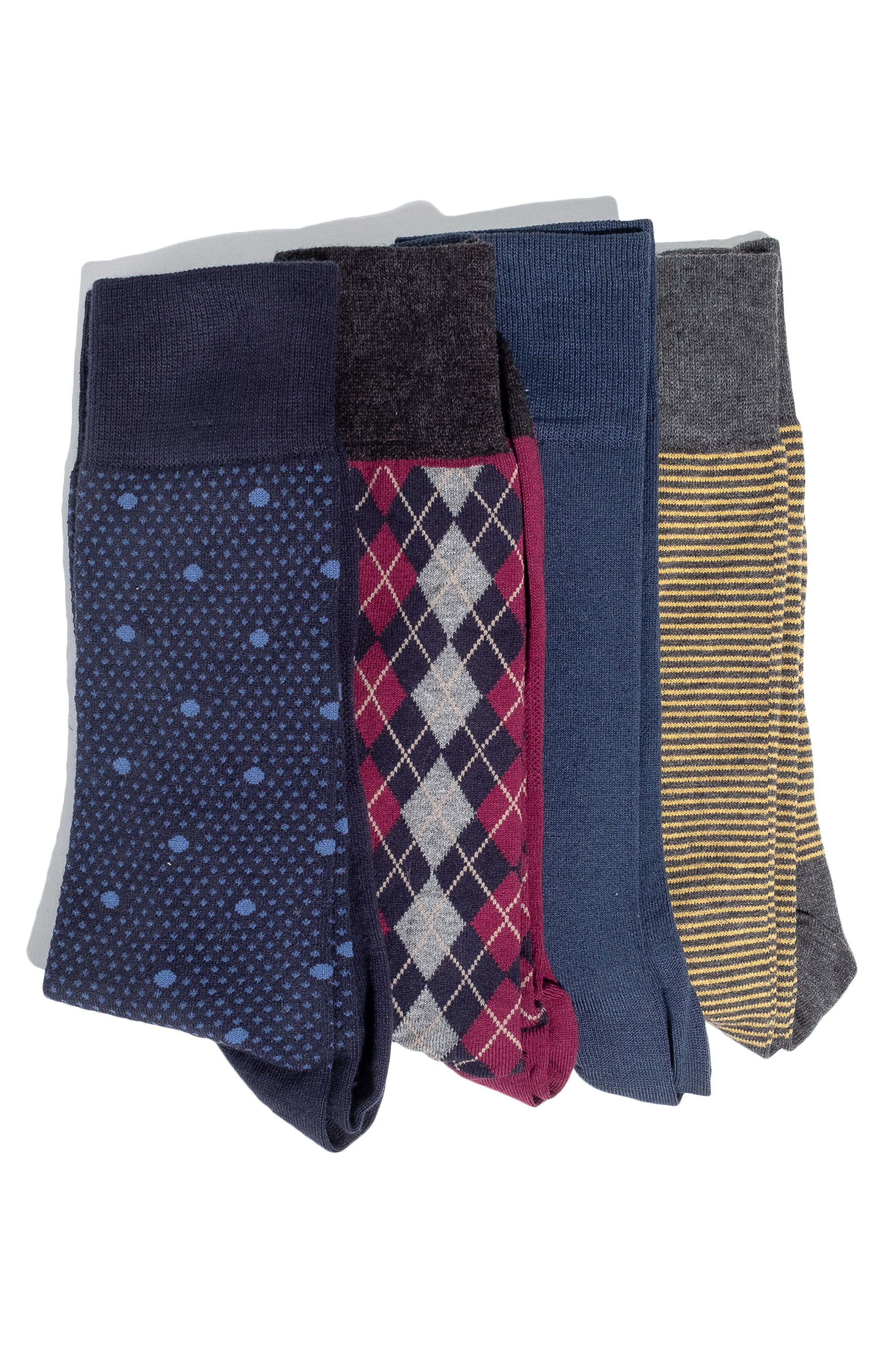 4-Pack Socks, Main, color, 400