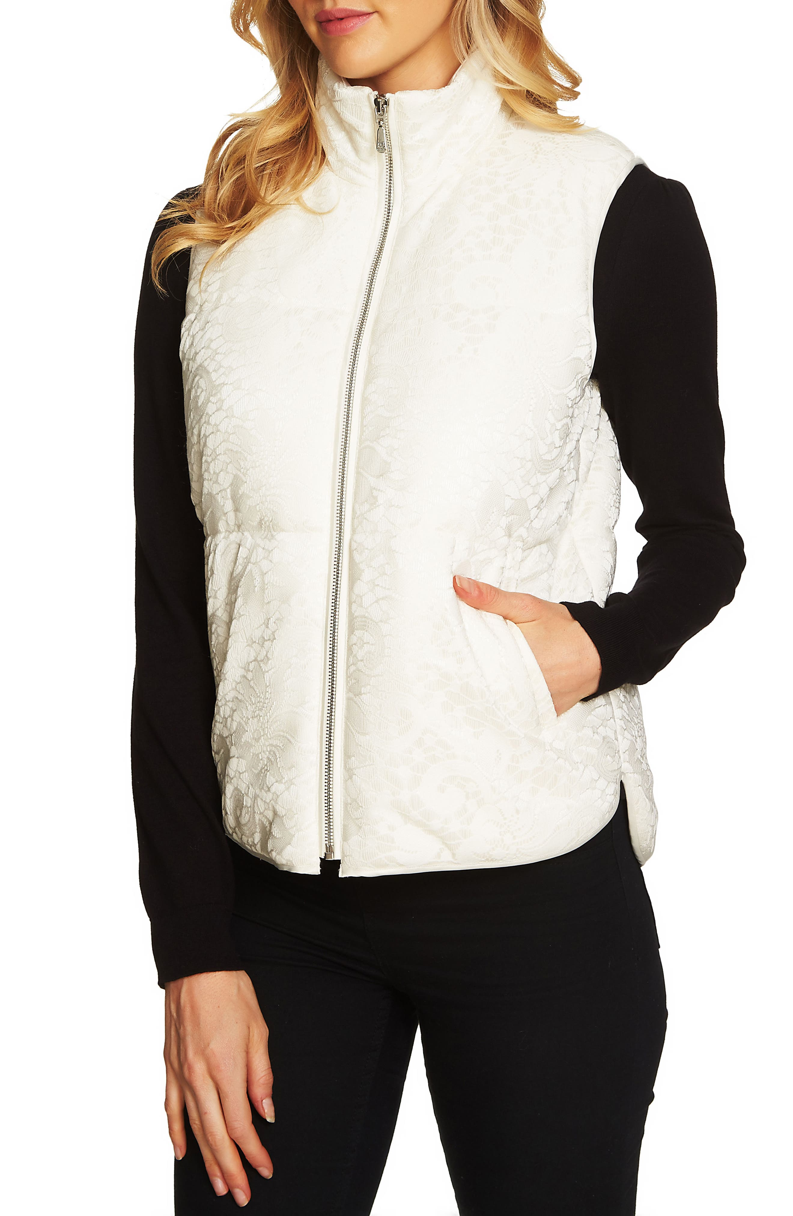 Bonded Lace Vest,                             Alternate thumbnail 2, color,                             108