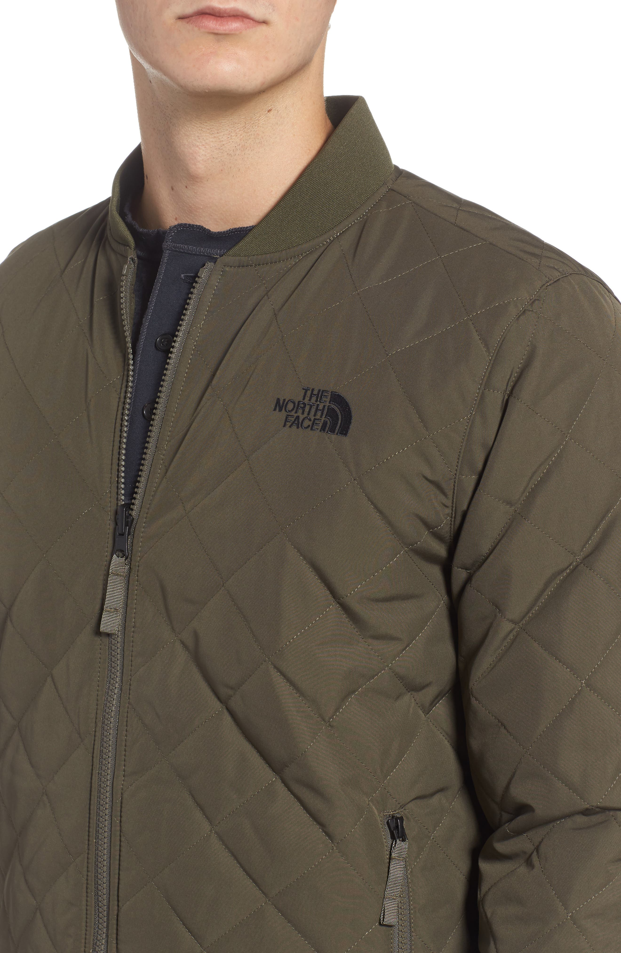 THE NORTH FACE,                             Jester Reversible Bomber Jacket,                             Alternate thumbnail 6, color,                             NEW TAUPE GREEN