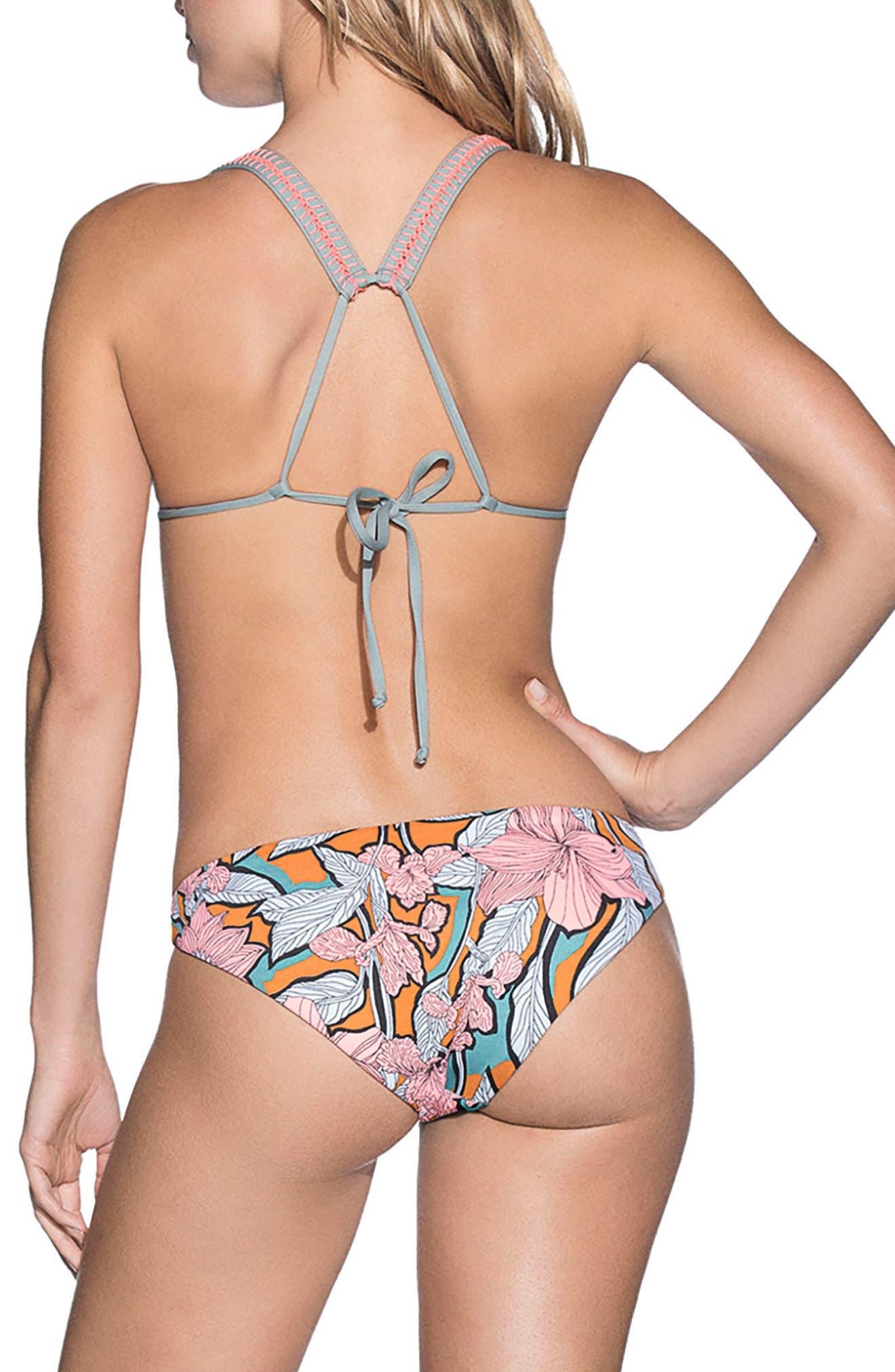 Wayuu Dance Signature Cut Reversible Bikini Bottoms,                             Alternate thumbnail 4, color,