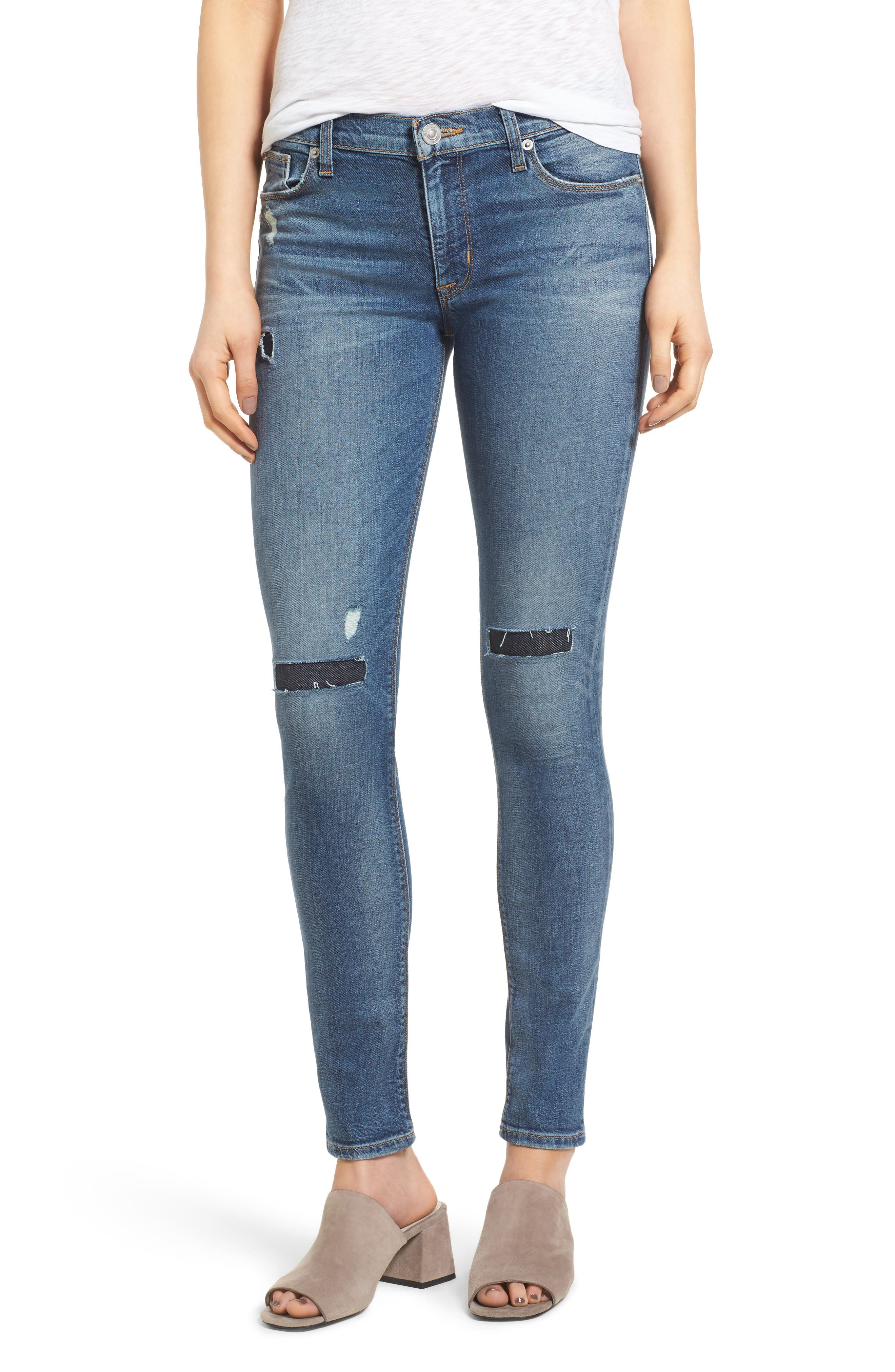 Nico Shredded Skinny Jeans,                             Main thumbnail 1, color,                             422