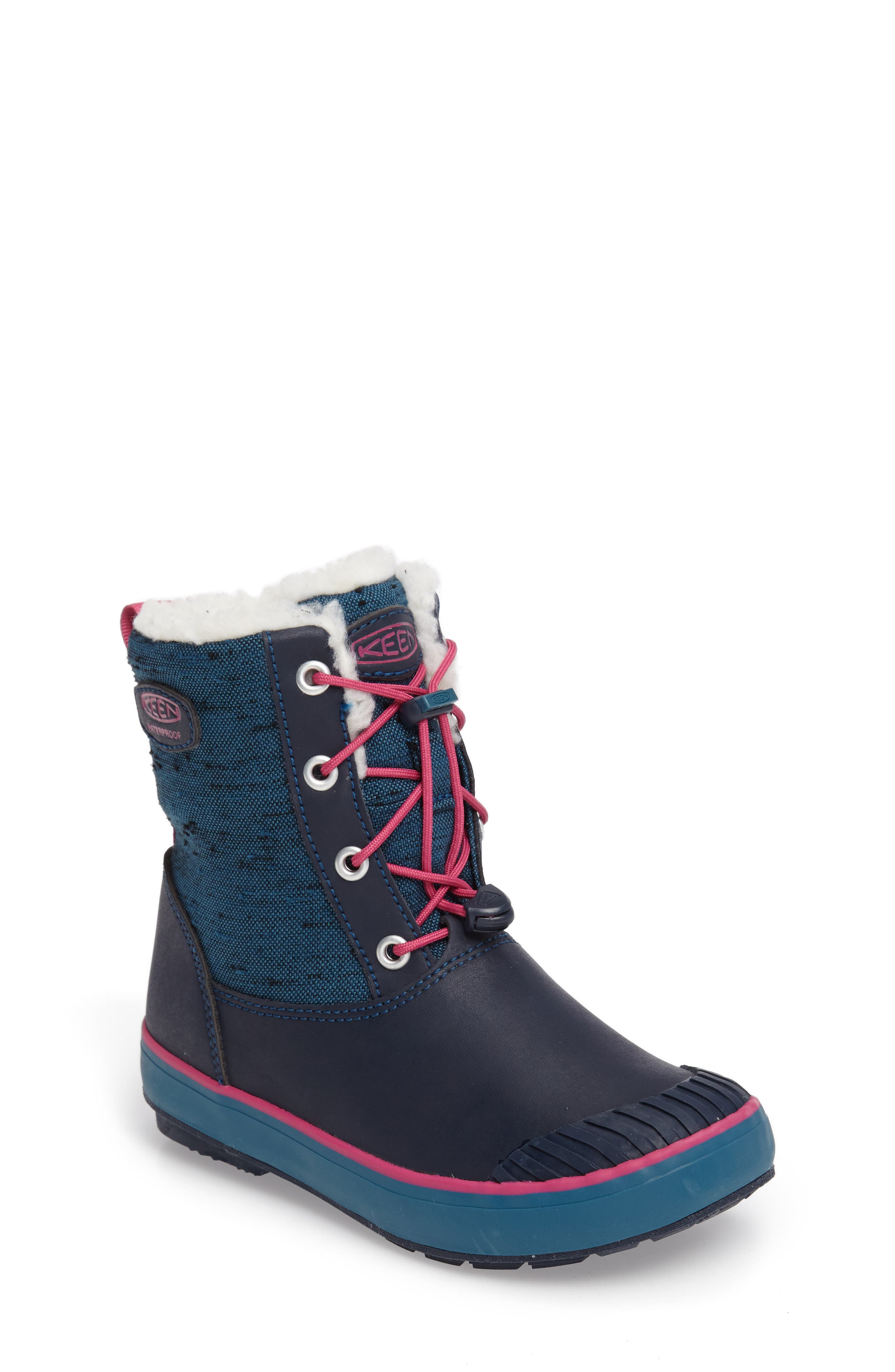 Elsa Waterproof Faux Fur Lined Snow Boot,                             Alternate thumbnail 7, color,