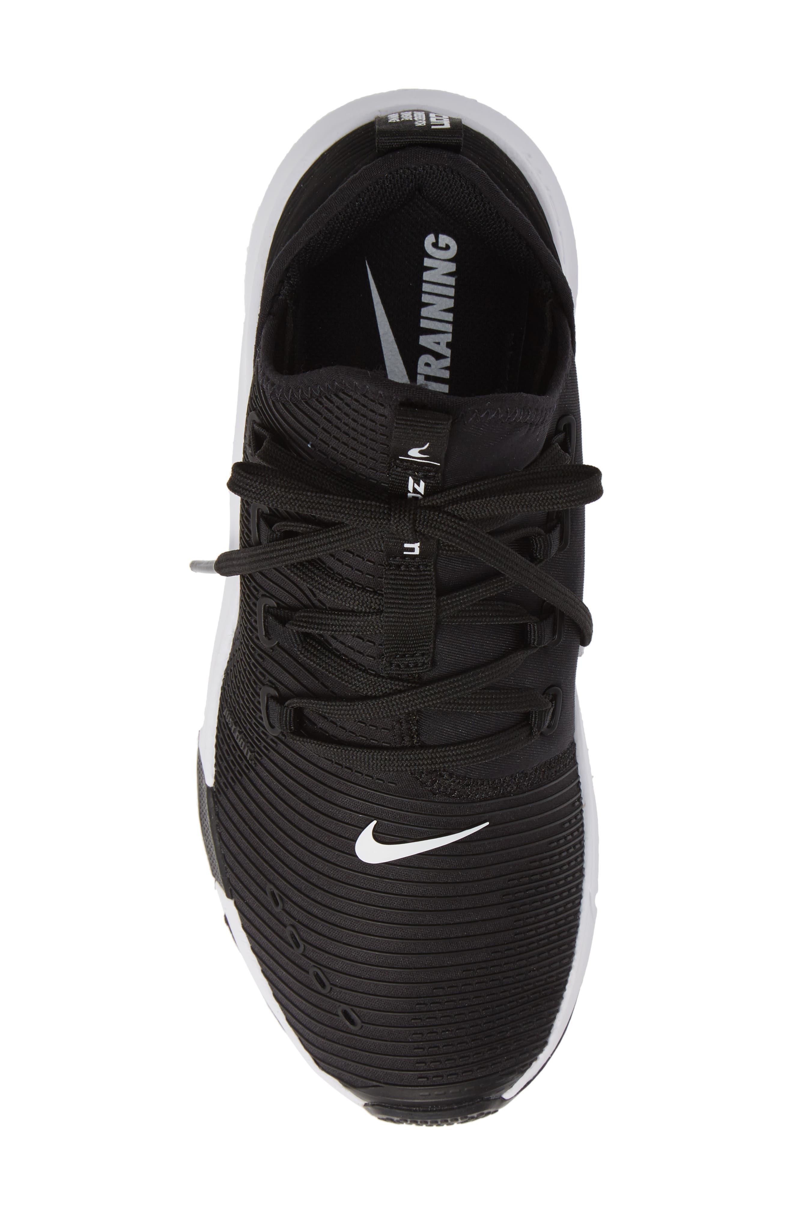 Air Zoom Elevate Training Shoe,                             Alternate thumbnail 5, color,                             BLACK/ WHITE