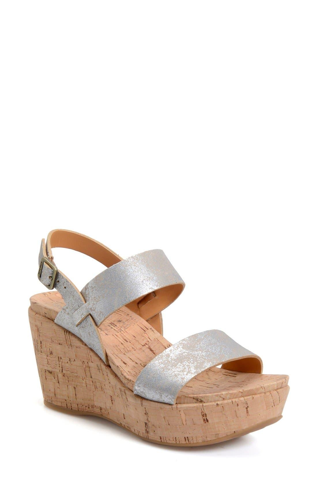 'Austin' Slingback Wedge Sandal,                             Main thumbnail 5, color,