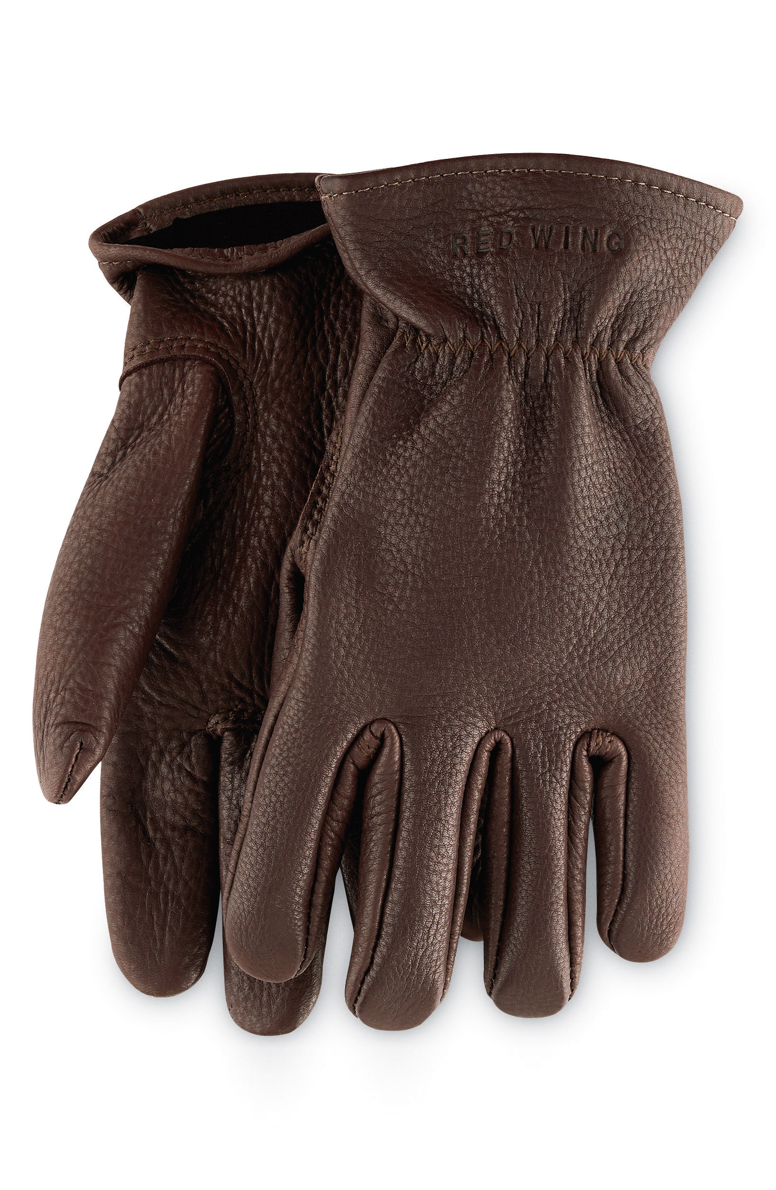 Red Wing Unlined Leather Gloves, Brown