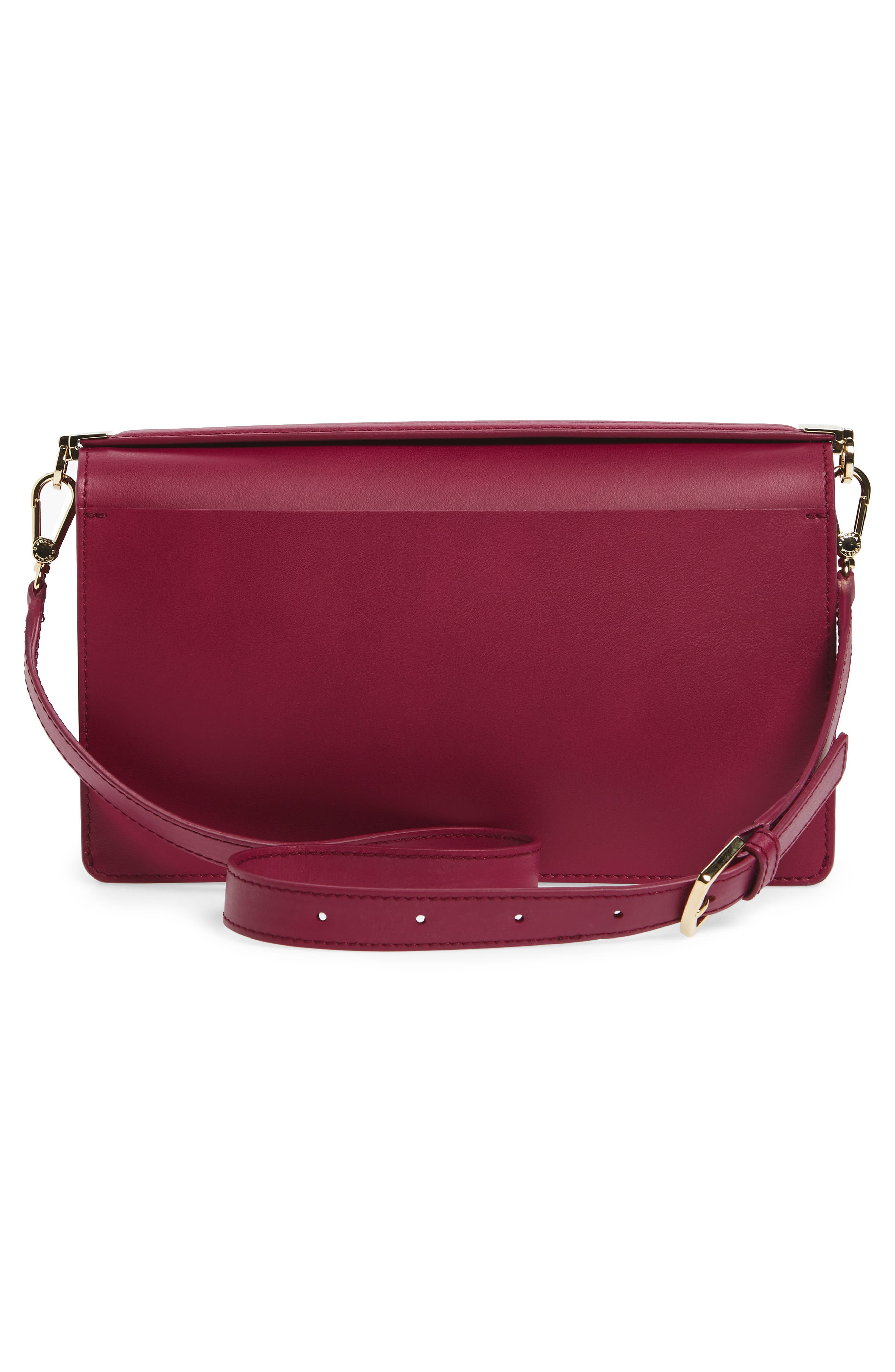 Snap Leather Shoulder Bag,                             Alternate thumbnail 3, color,                             609