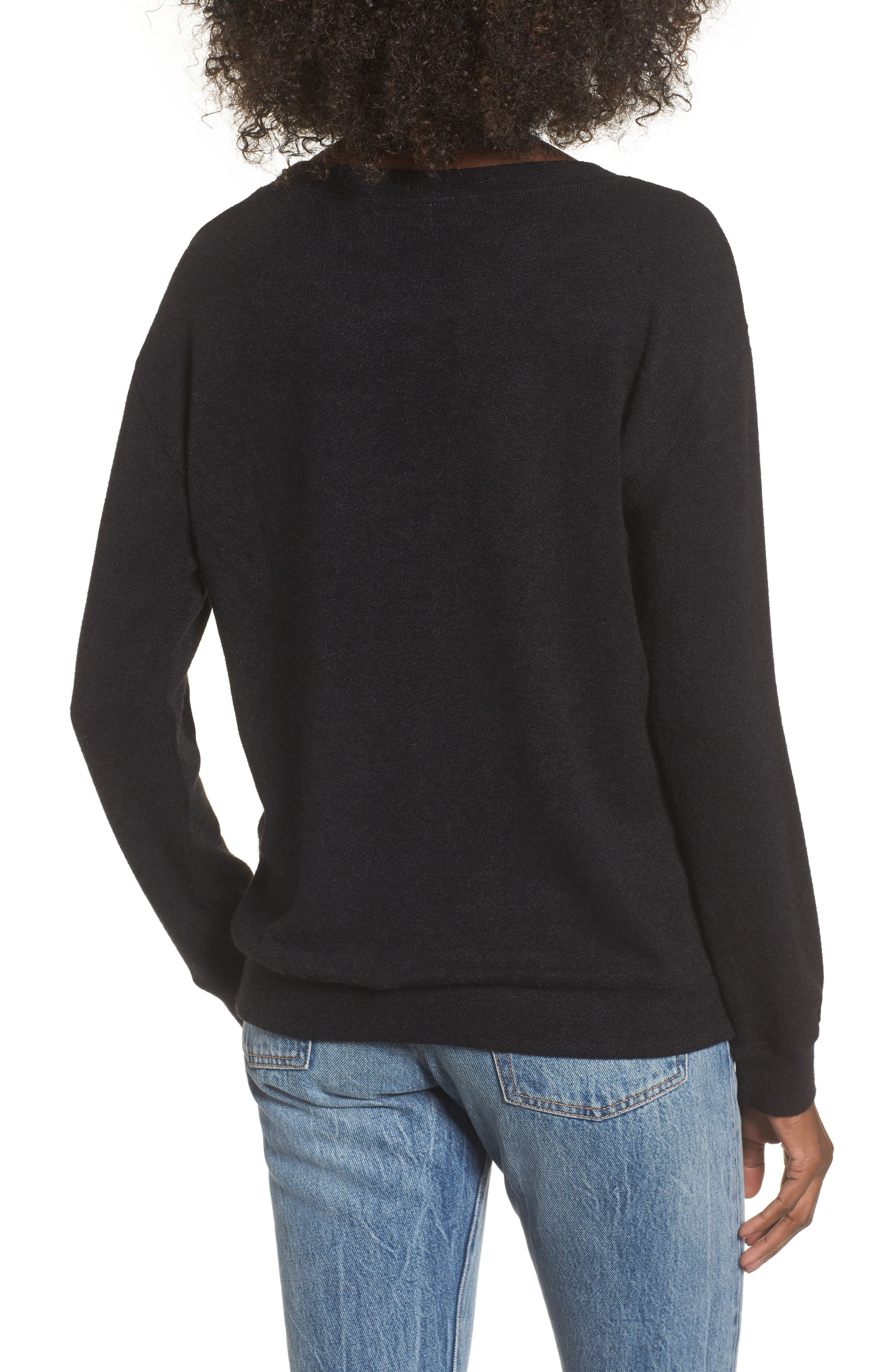 Phoebe Fleece Sweatshirt,                             Alternate thumbnail 3, color,