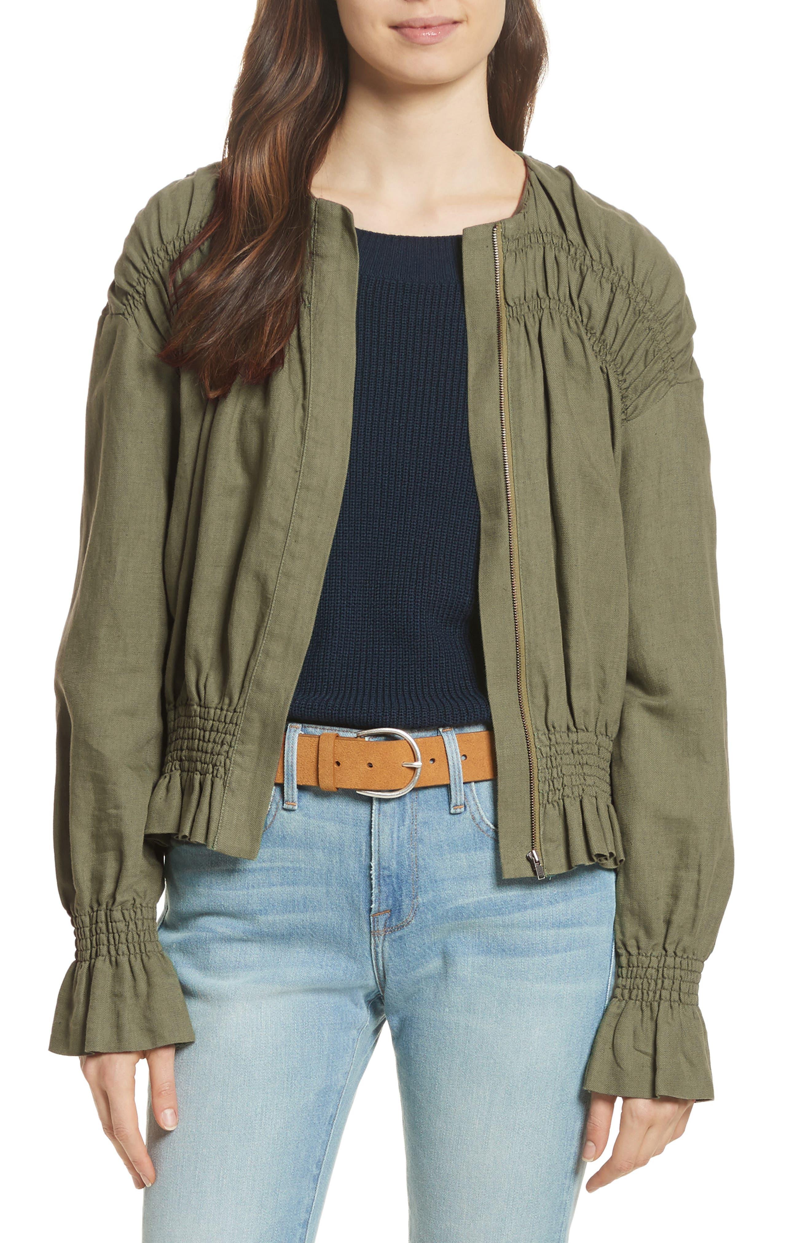 Smocked Jacket,                             Main thumbnail 1, color,                             350