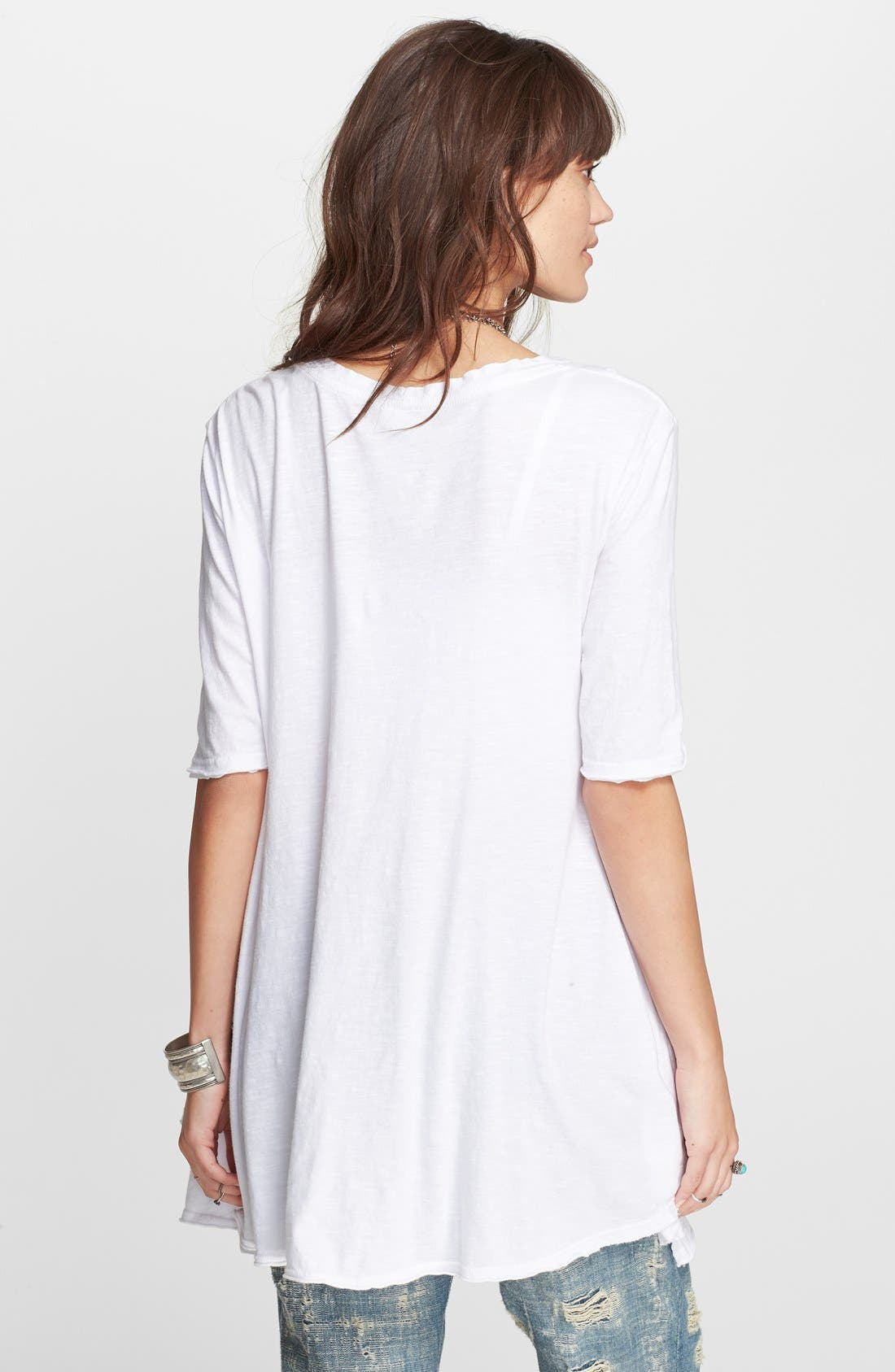 FREE PEOPLE,                             'Melrose' Tee,                             Alternate thumbnail 2, color,                             100