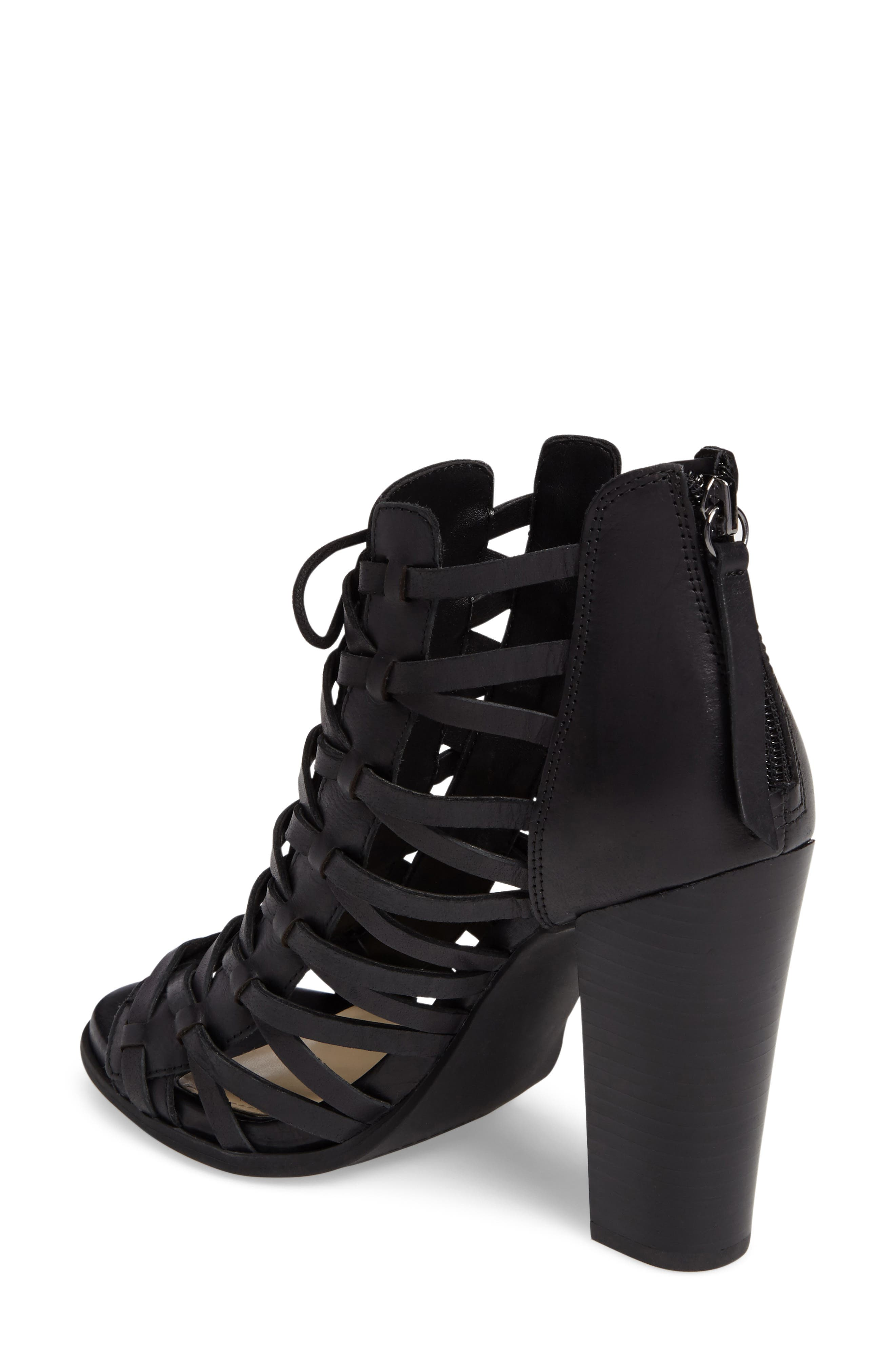 JESSICA SIMPSON,                             Riana Woven Leather Cage Sandal,                             Alternate thumbnail 2, color,                             001