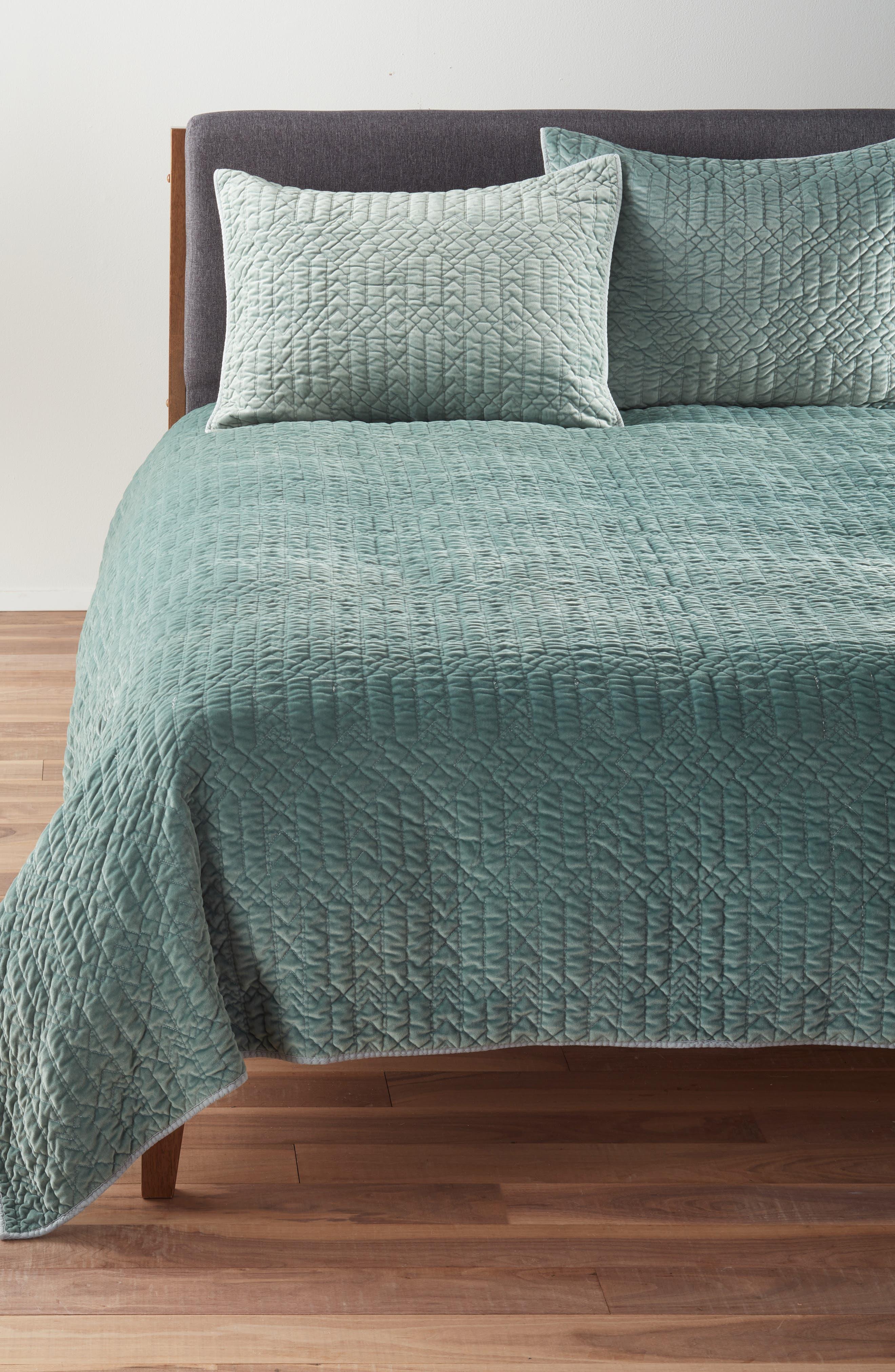 Washed Velvet Quilt,                         Main,                         color, 300