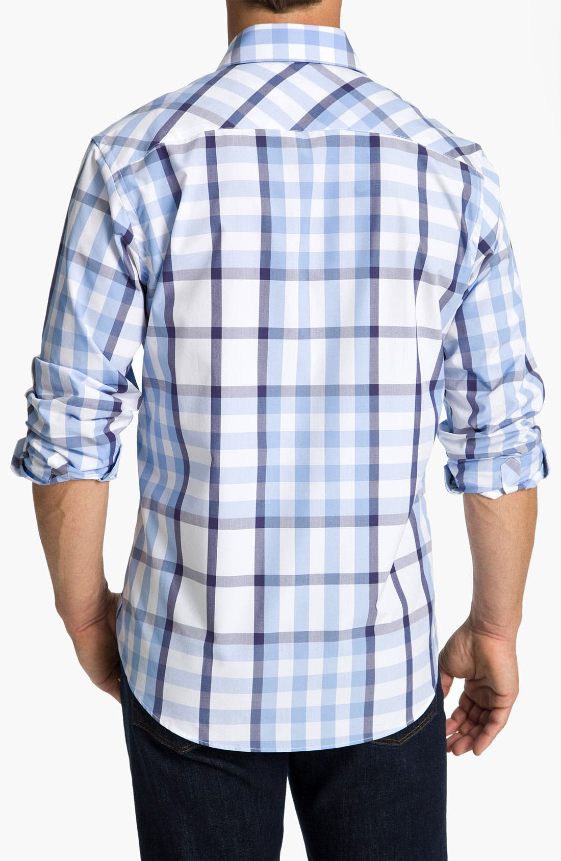 BUGATCHI,                             Uomo Classic Fit Sport Shirt,                             Alternate thumbnail 3, color,                             459