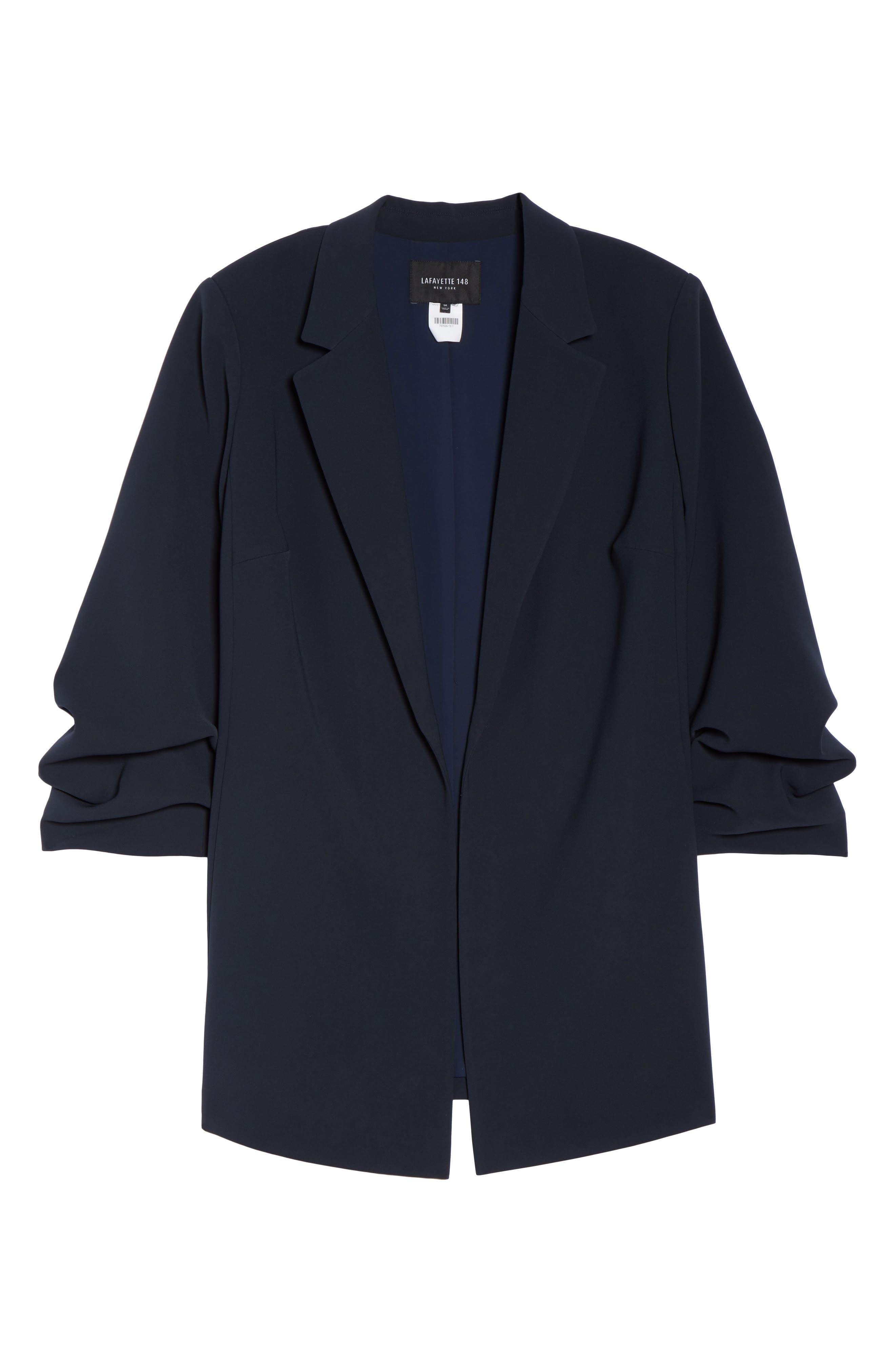 Henrik -Finesse Crepe Jacket (Plus Size,                             Alternate thumbnail 5, color,                             479