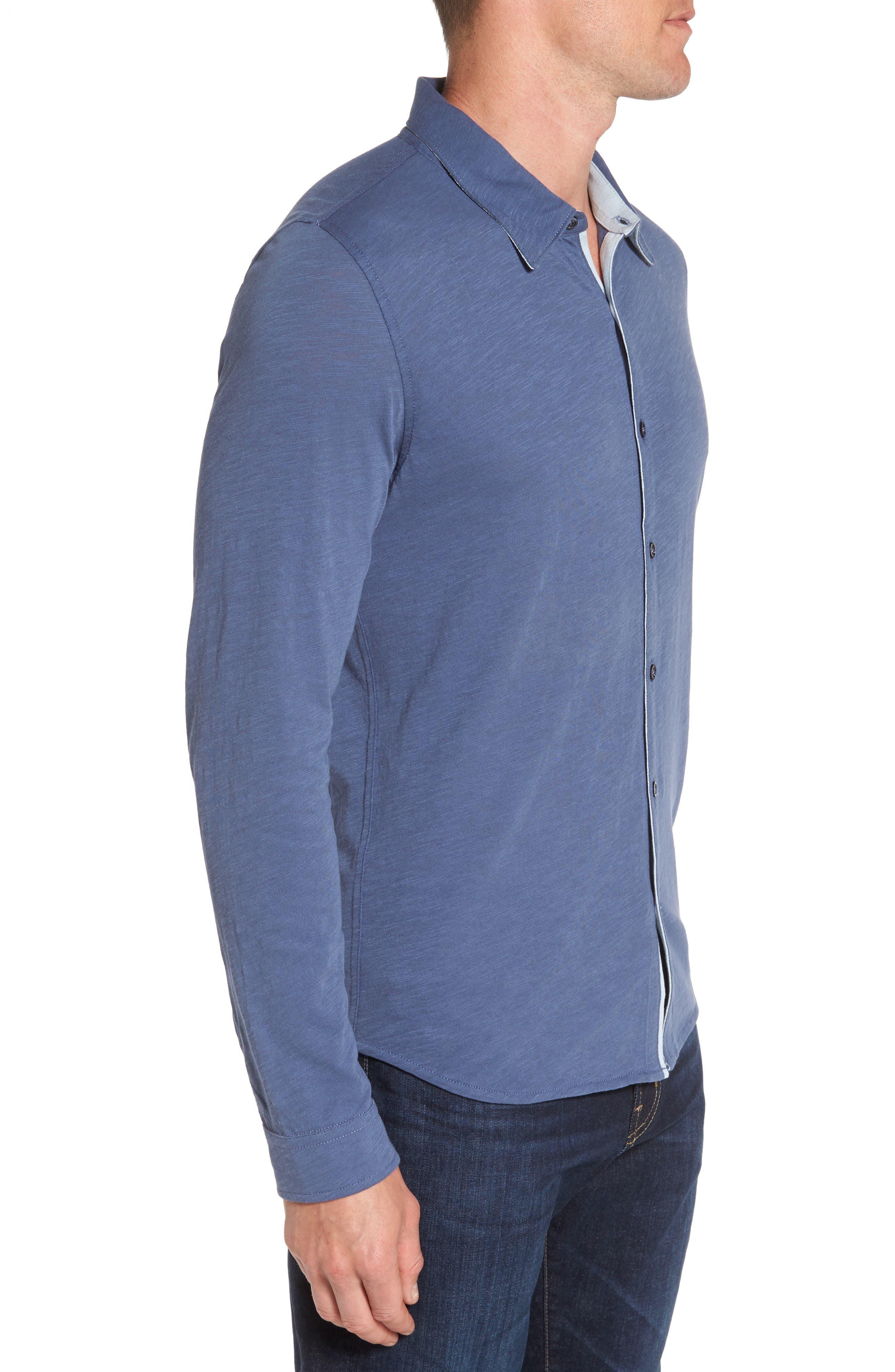 Camara Trim Fit Knit Sport Shirt,                             Alternate thumbnail 9, color,
