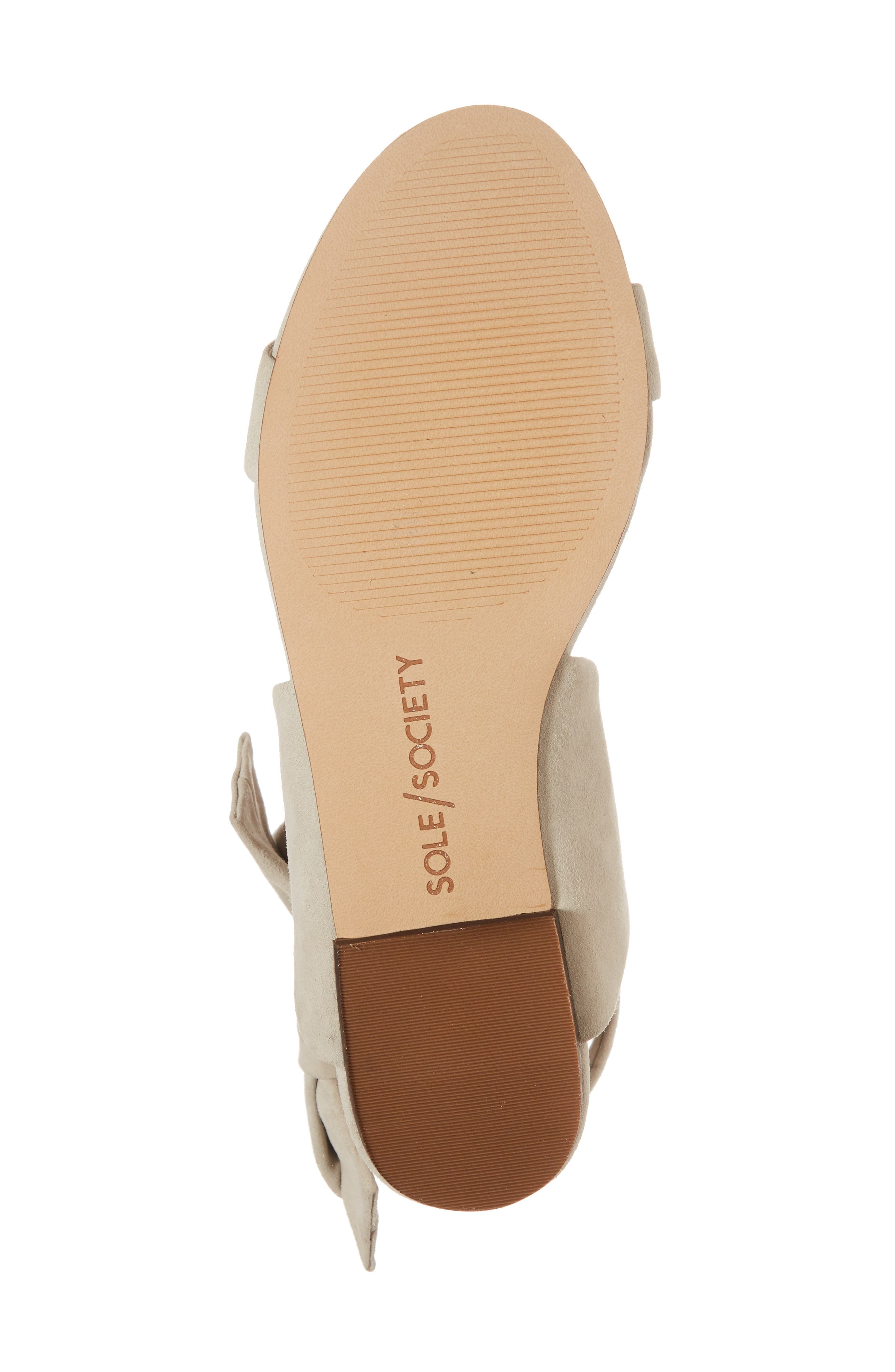Calynda Bow Ankle Wrap Sandal,                             Alternate thumbnail 6, color,                             020