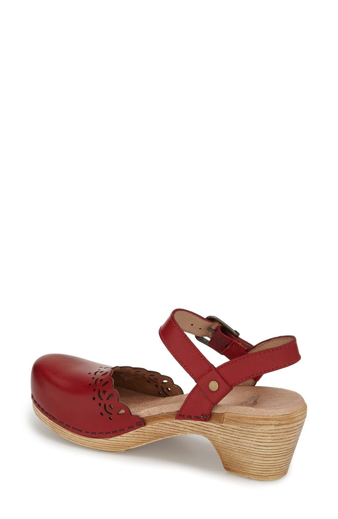 'Marta' Ankle Strap Clog,                             Alternate thumbnail 9, color,