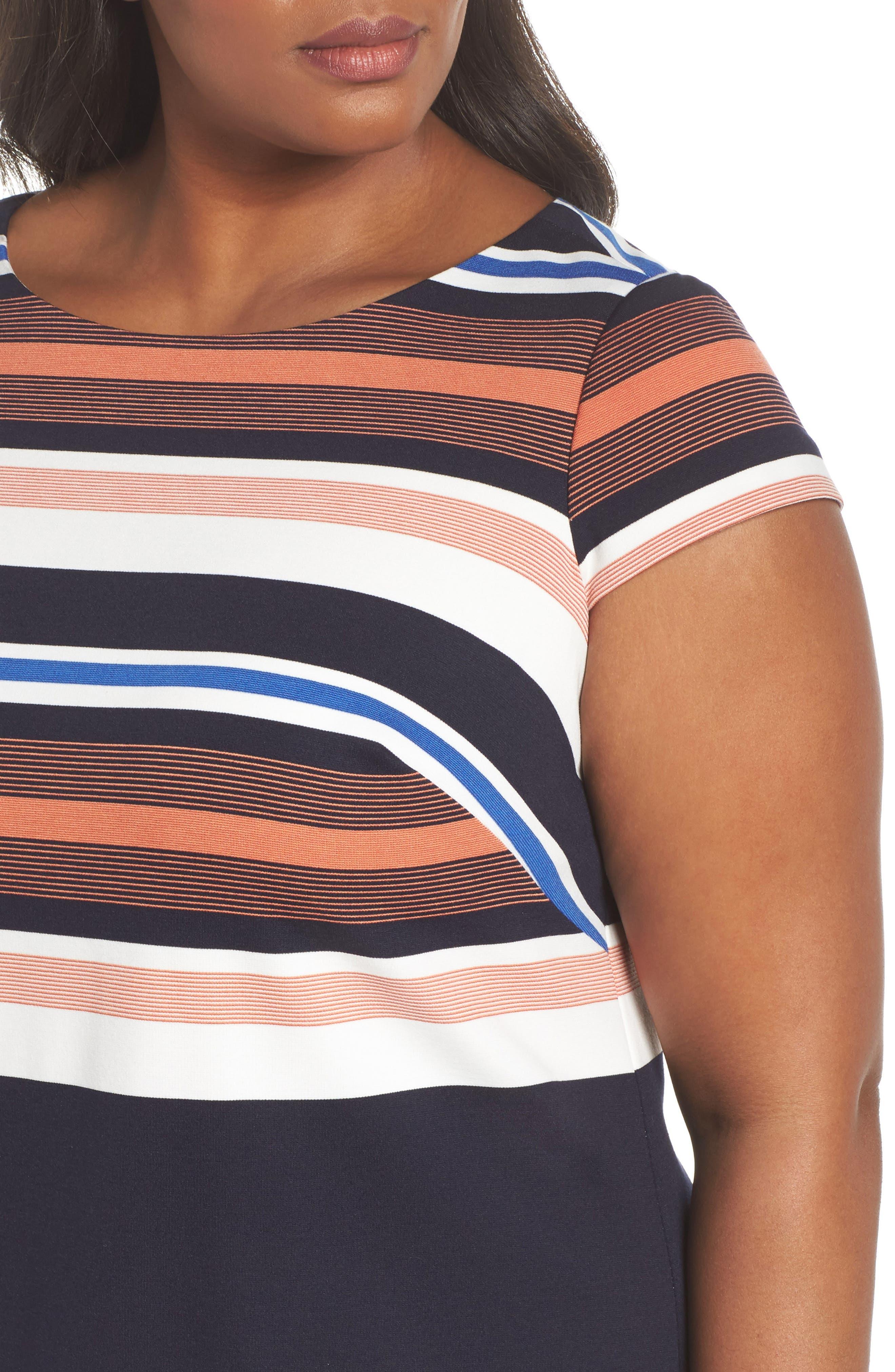 Stripe Shirtdress,                             Alternate thumbnail 4, color,                             474