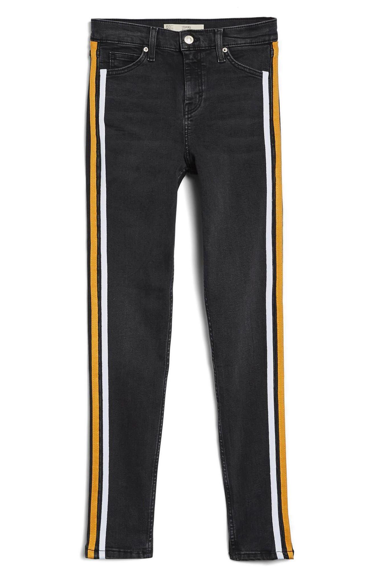 Jamie Side Stripe Jeans,                             Alternate thumbnail 3, color,                             003