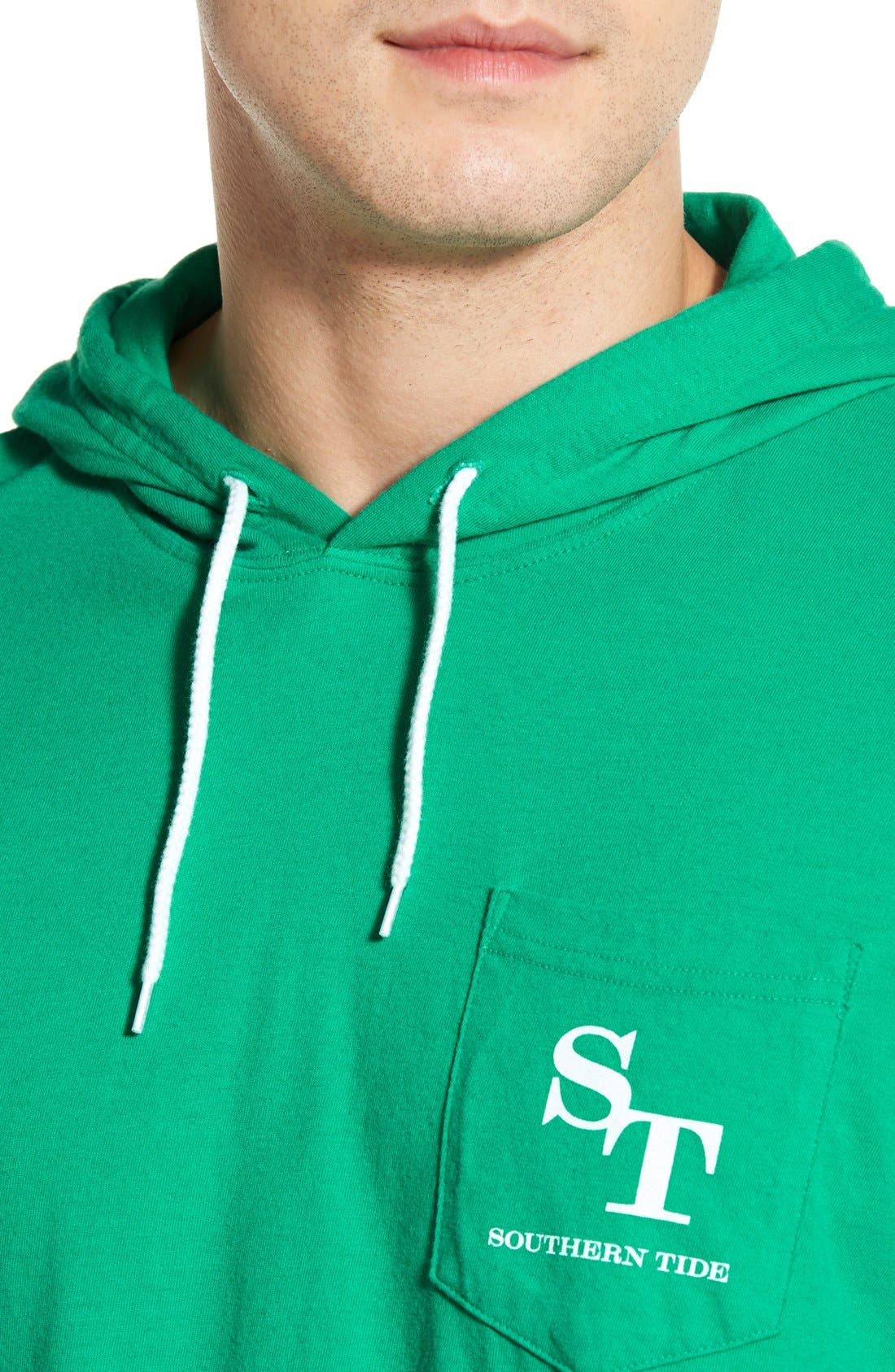 Graphic Hooded Long Sleeve T-Shirt,                             Alternate thumbnail 8, color,