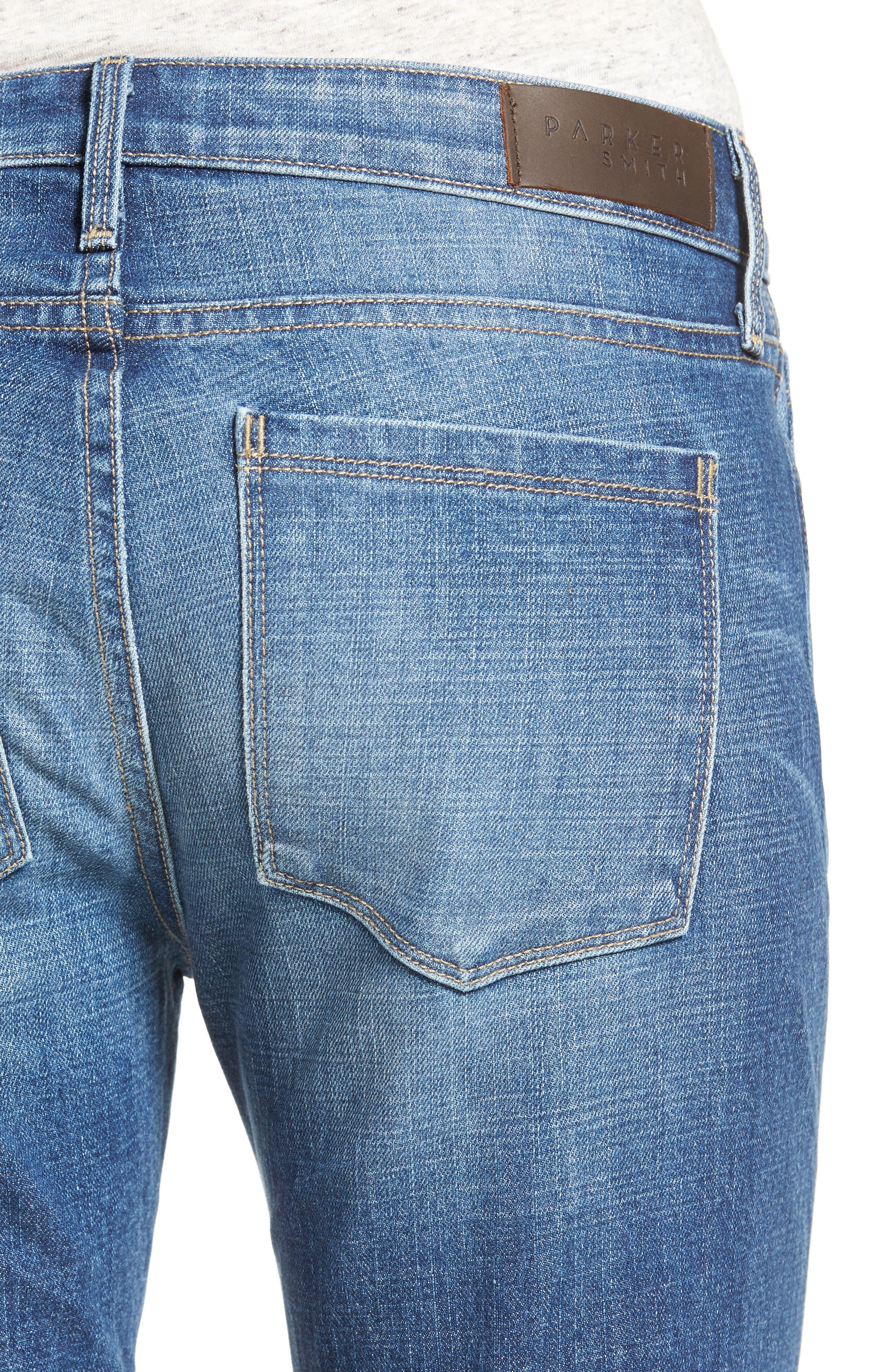 Vented Seam Straight Leg Jeans,                             Alternate thumbnail 4, color,                             483