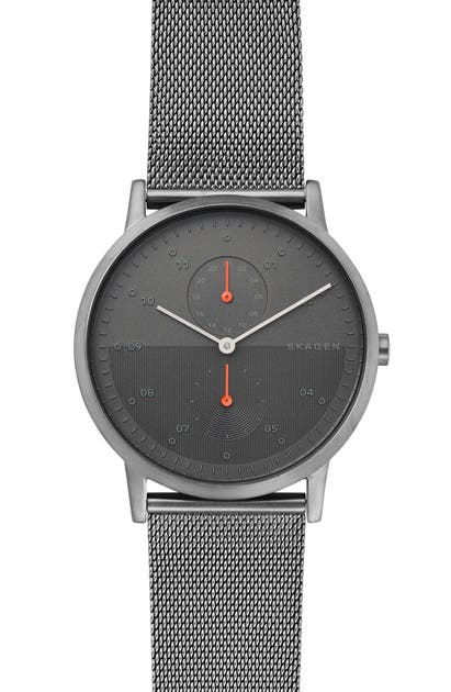 Skagen Watches DESIGNS KRISTOFFER MULTIFUNCTION MESH STRAP WATCH, 42MM