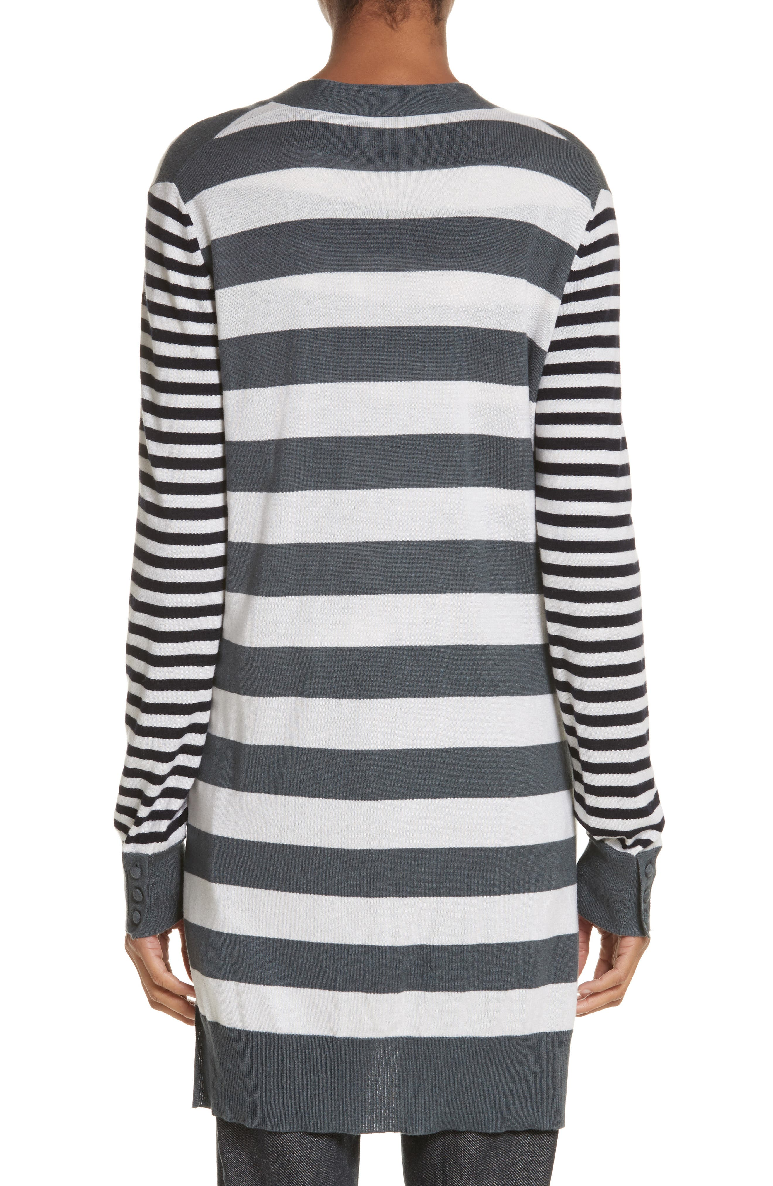 Etiopia Stripe Silk & Cashmere Cardigan,                             Alternate thumbnail 2, color,                             054