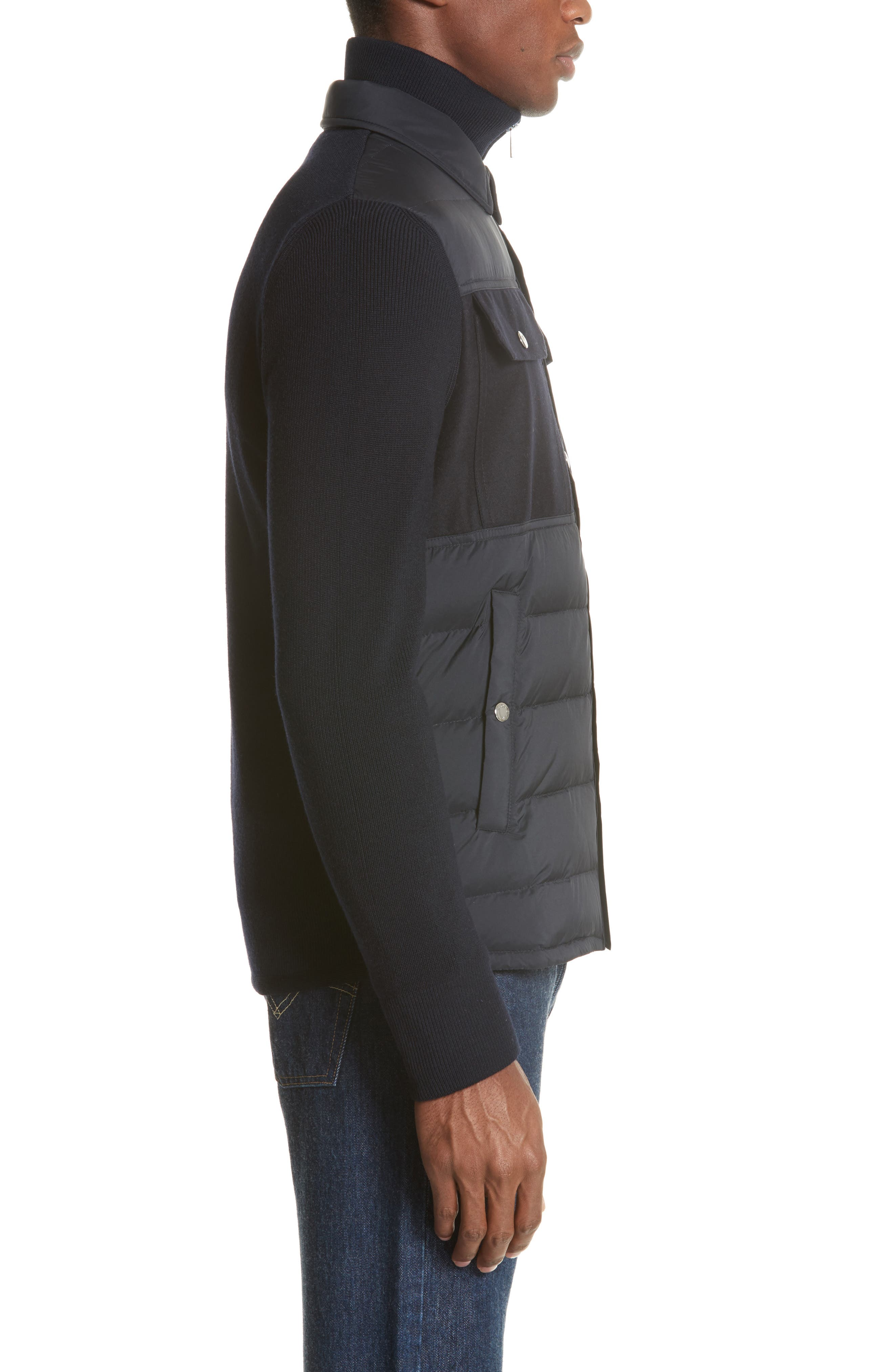 Maglione Two-Tone Down Jacket,                             Alternate thumbnail 3, color,                             NAVY