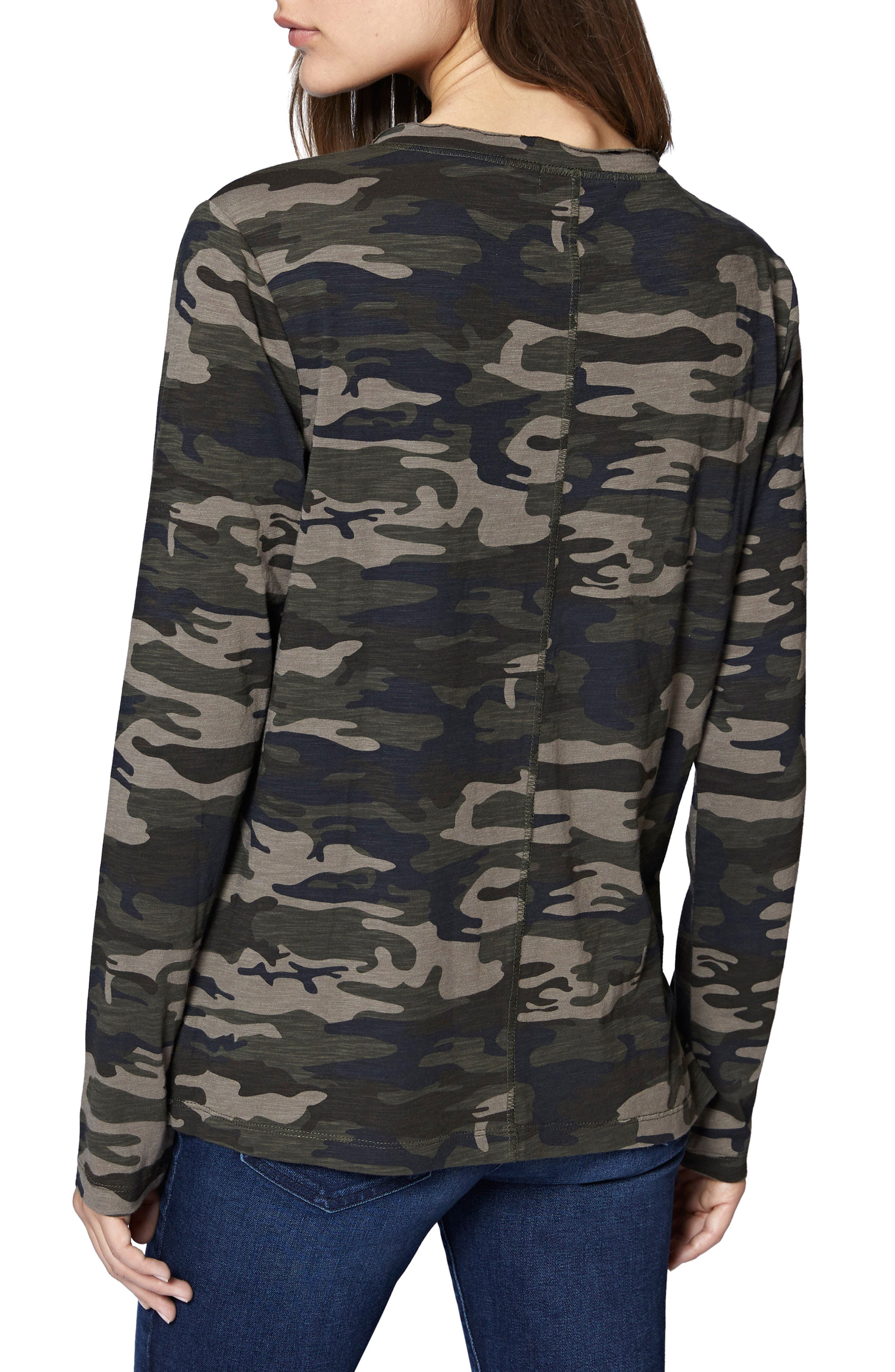 Ives Long Sleeve Camo Tee,                             Alternate thumbnail 2, color,                             HUMAN NATURE CAMO