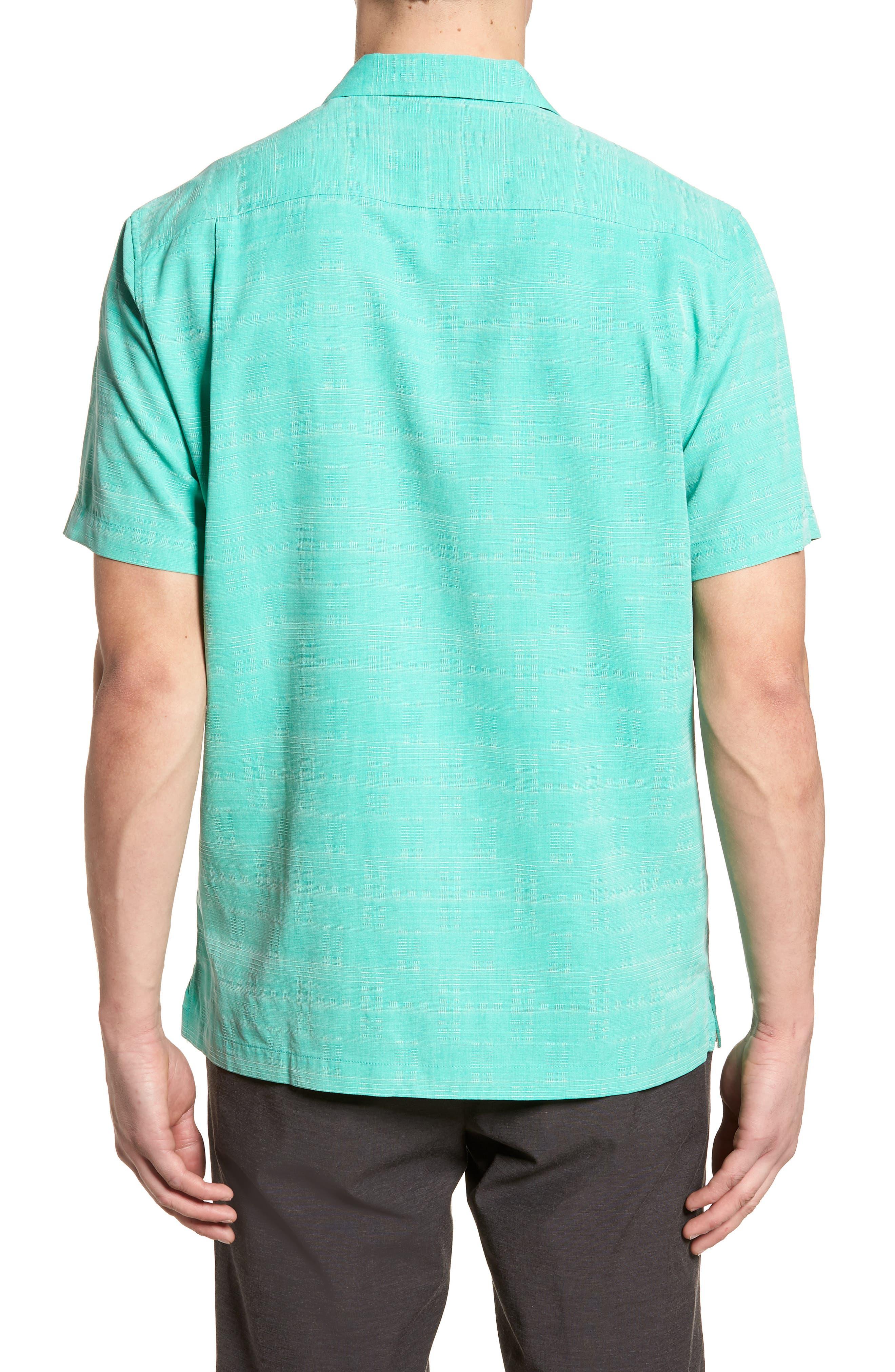 'Geo-Rific Jacquard' Original Fit Silk Camp Shirt,                             Alternate thumbnail 10, color,
