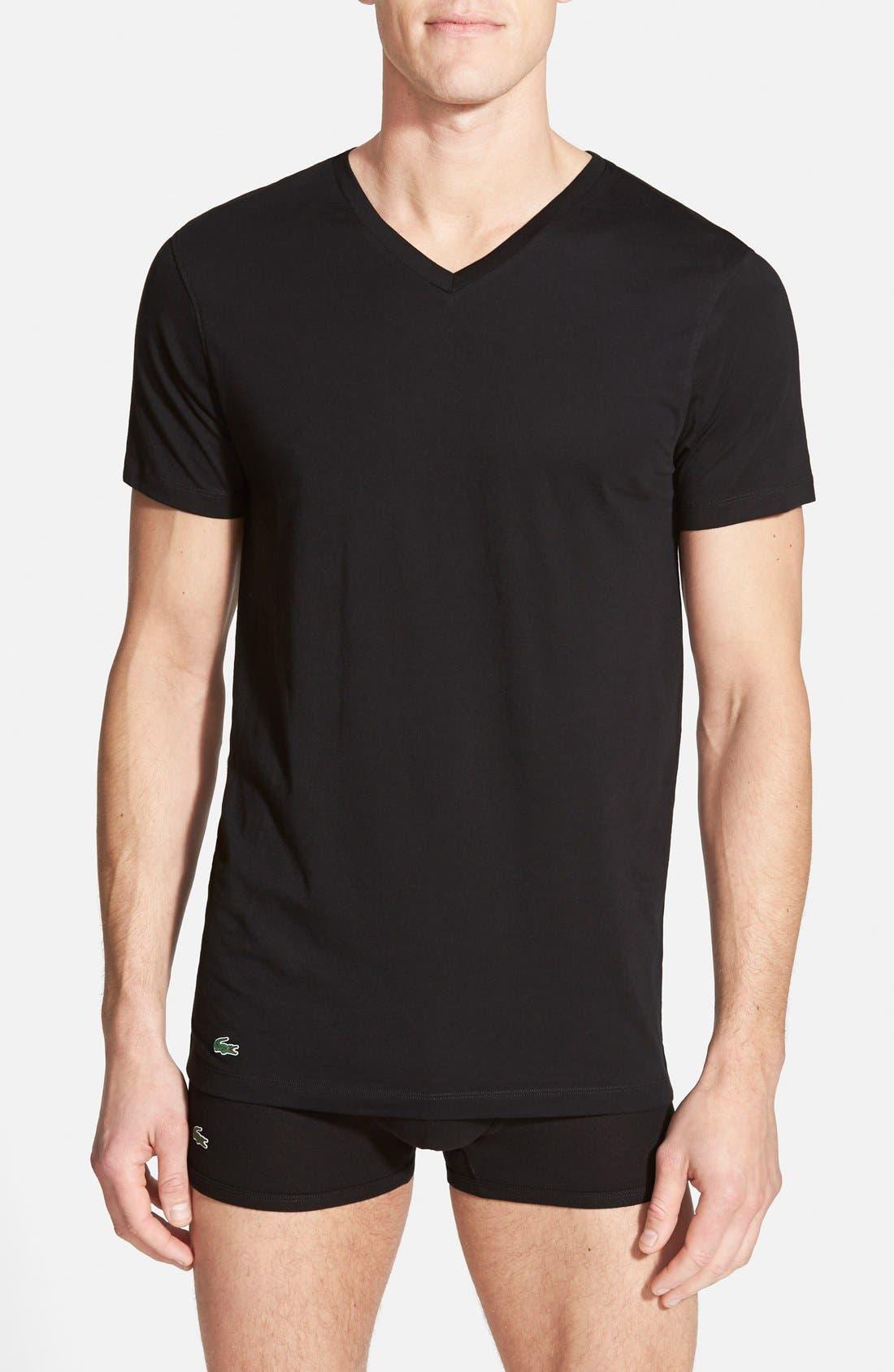 Supima<sup>®</sup> Cotton V-Neck T-Shirt,                         Main,                         color,