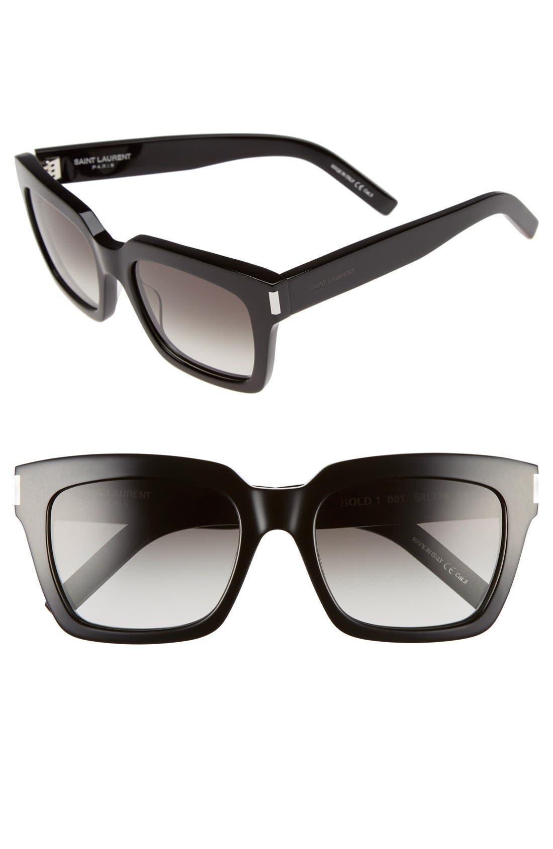 'Bold' 54mm Sunglasses,                             Main thumbnail 1, color,                             001