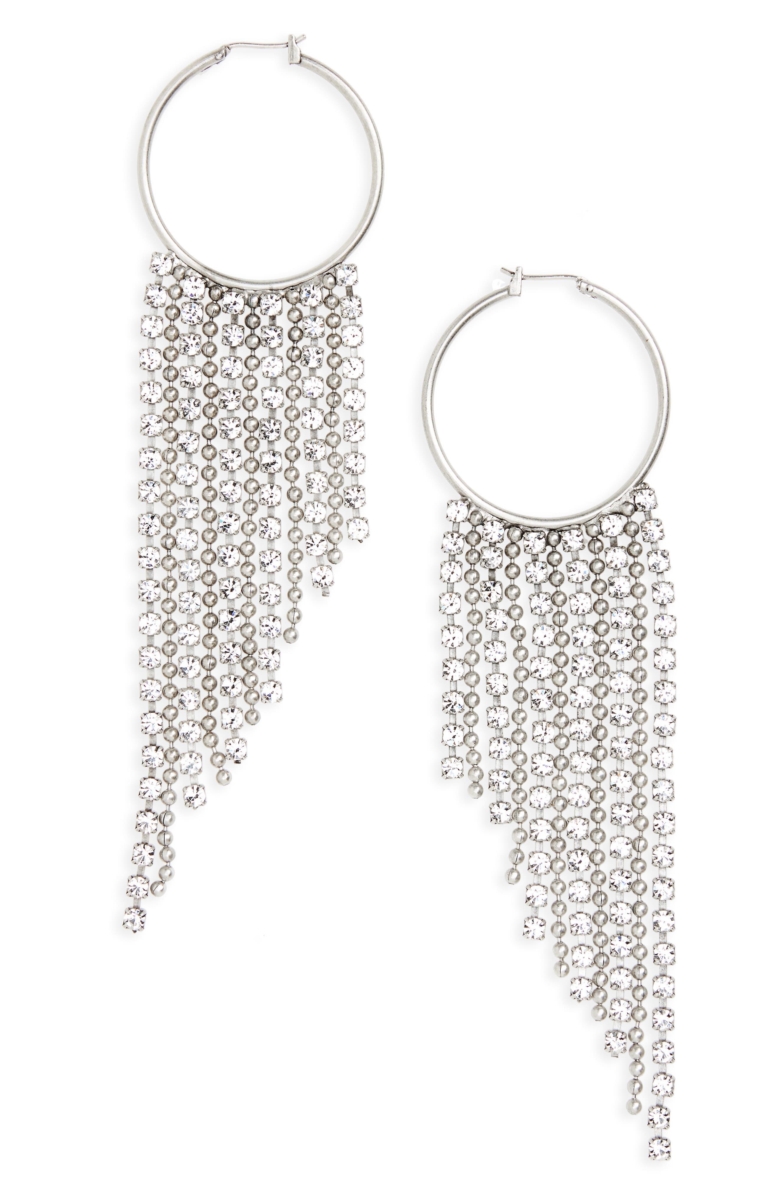 Joanna Fringe Hoop Earrings,                         Main,                         color,
