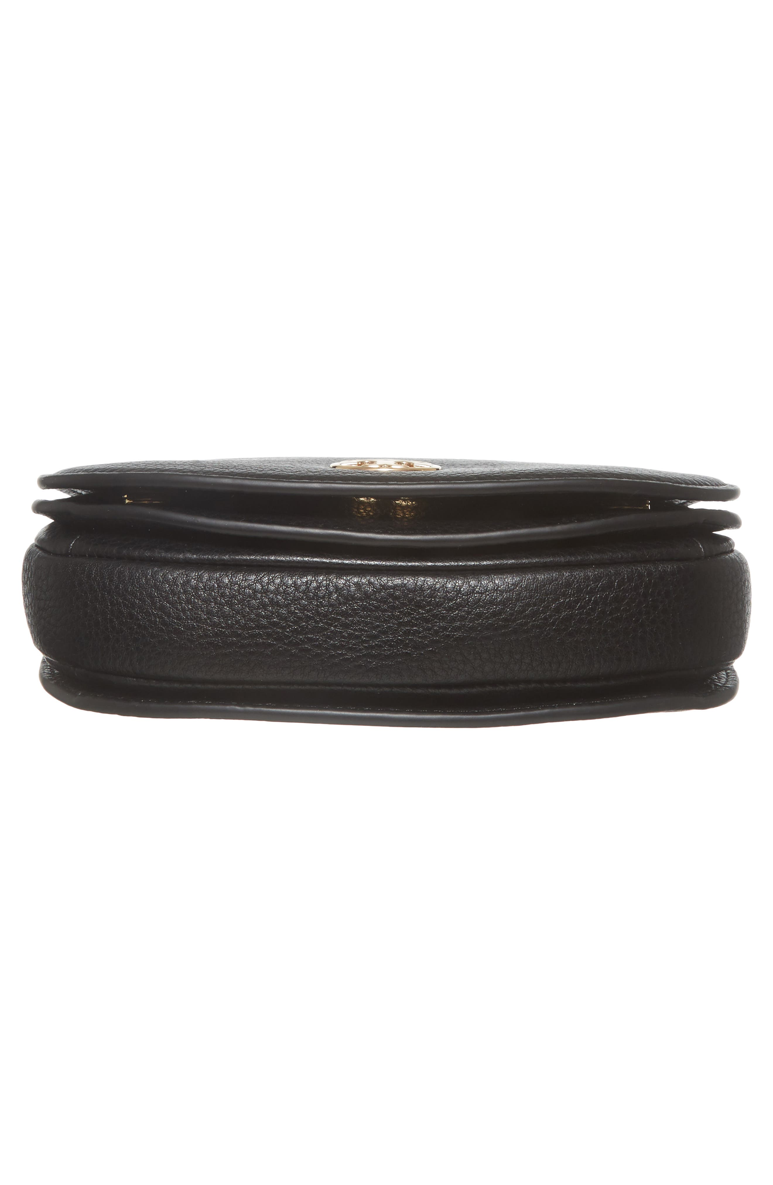 Mini Jamie Leather Crossbody Bag,                             Alternate thumbnail 6, color,                             001