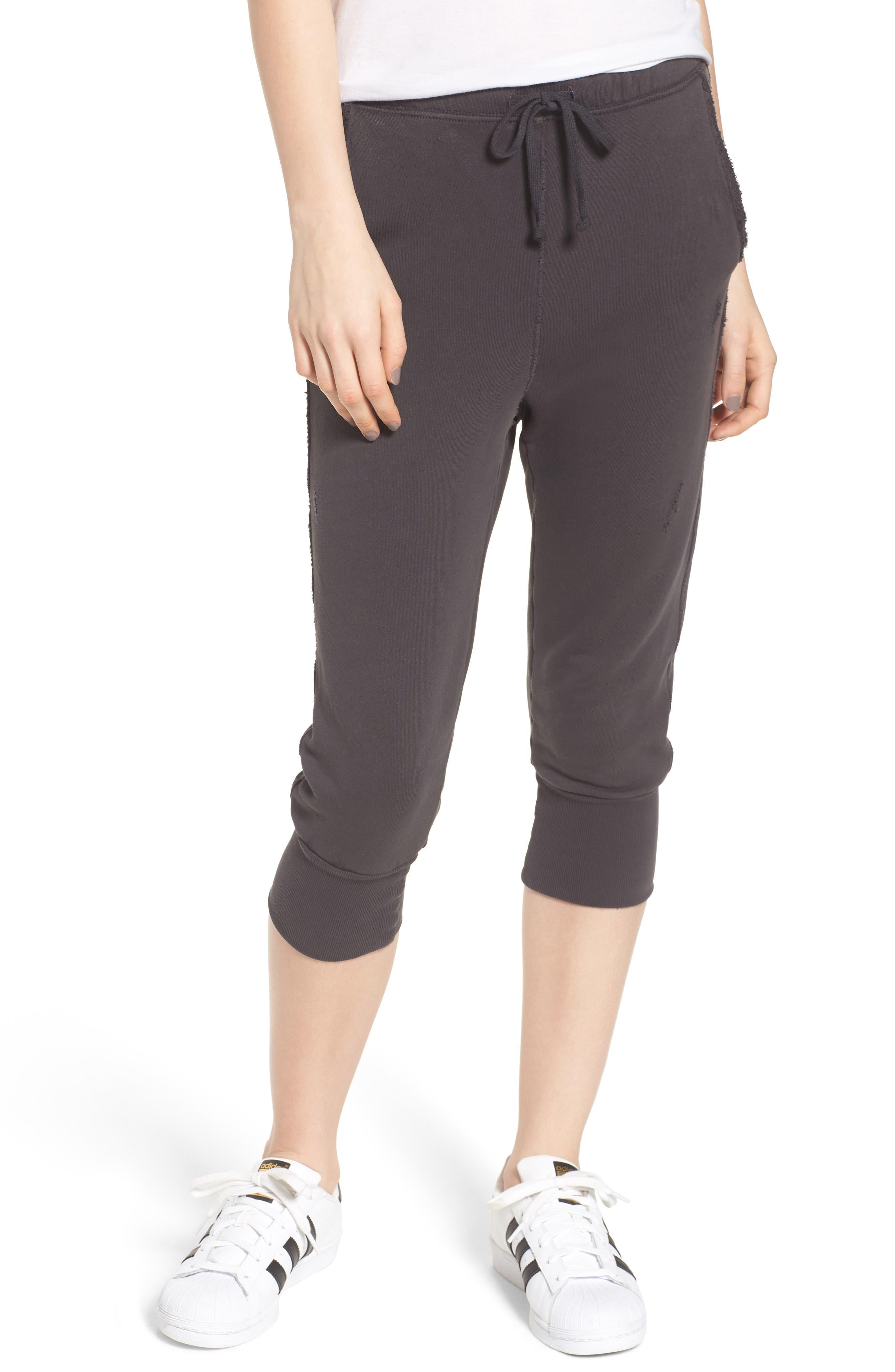 Crop Sweatpants,                             Main thumbnail 1, color,                             CARBON
