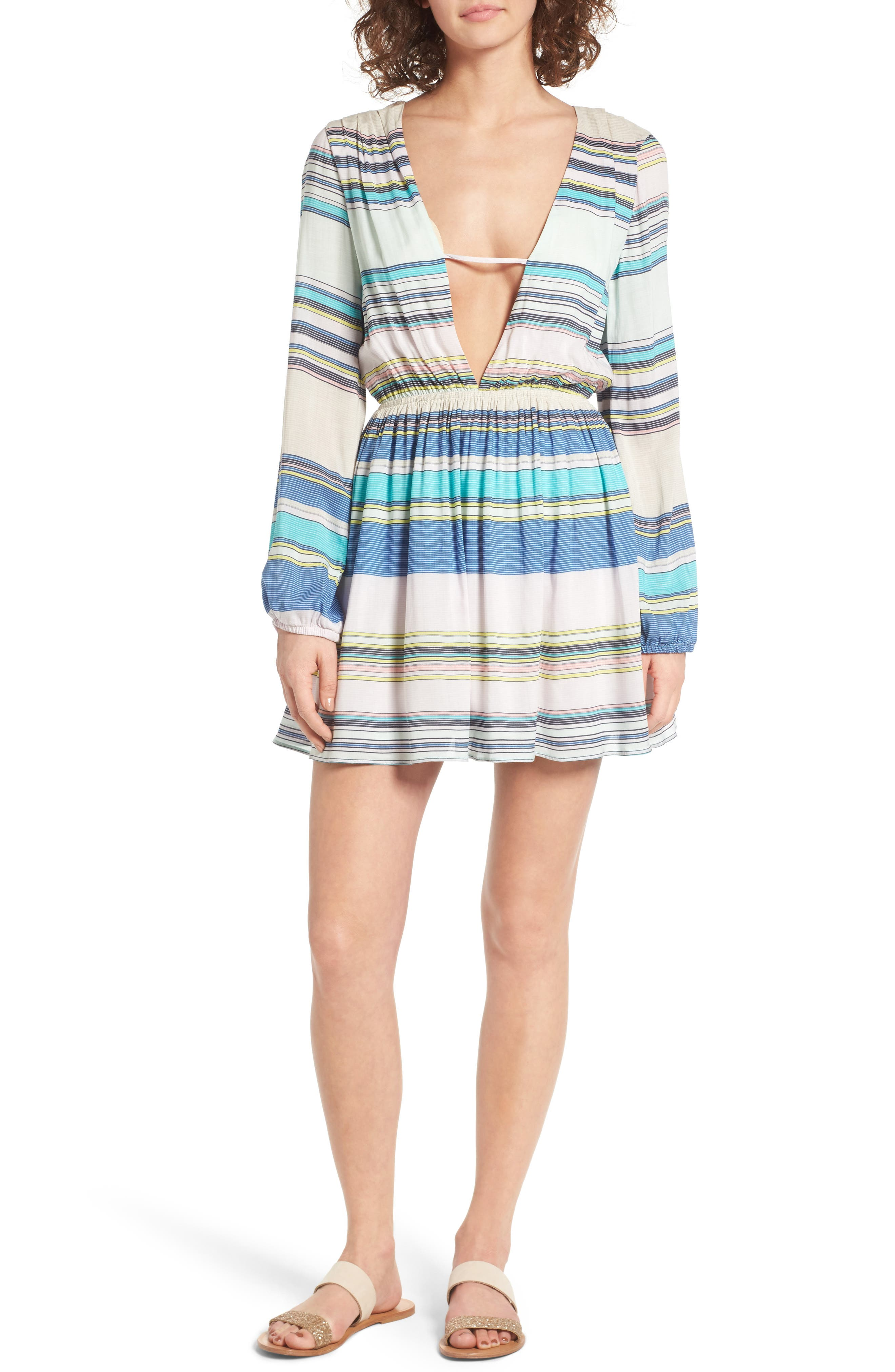 Whitney Stripe Dress,                         Main,                         color, 460