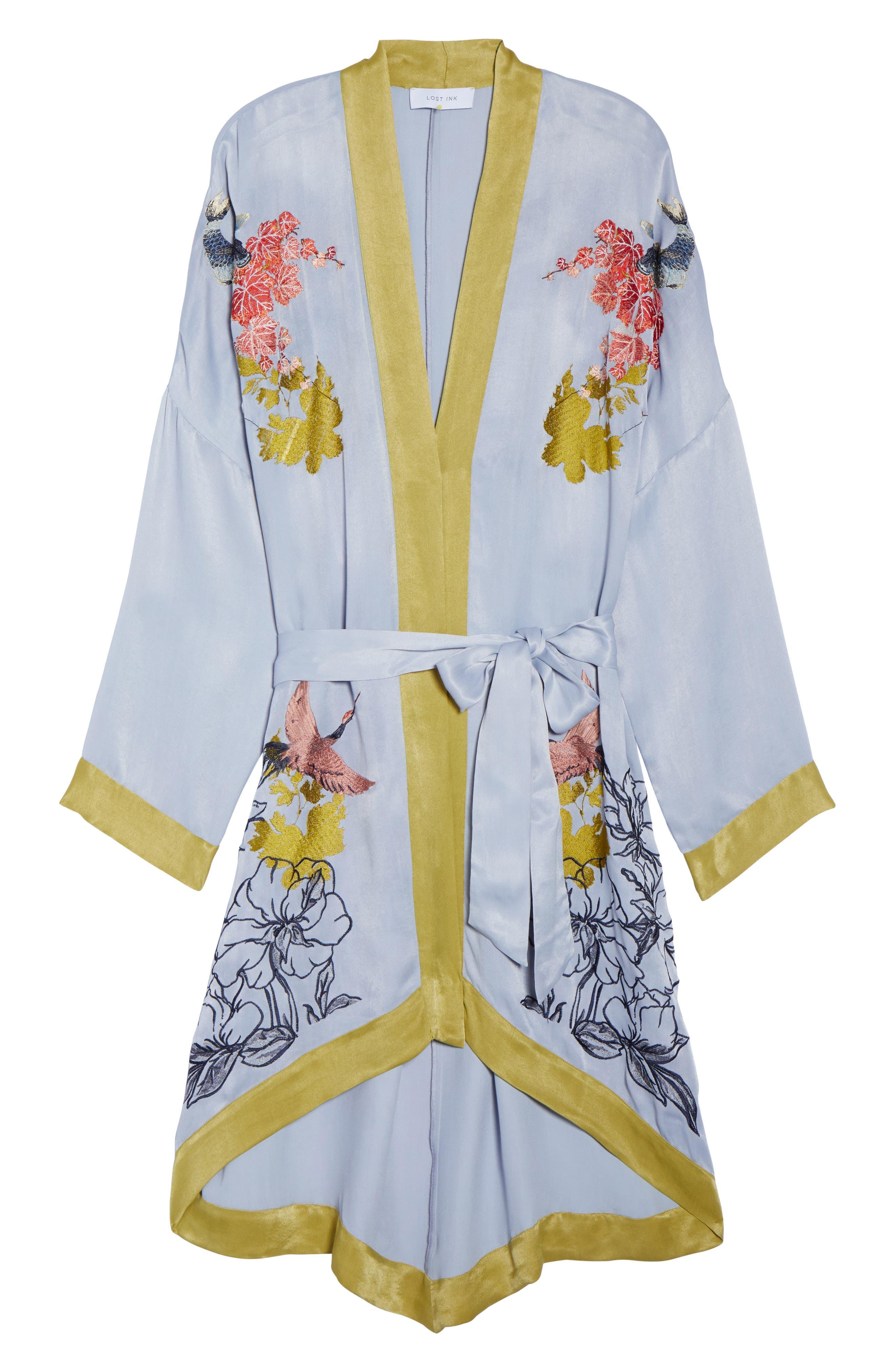 Embroidered Kimono,                             Alternate thumbnail 5, color,