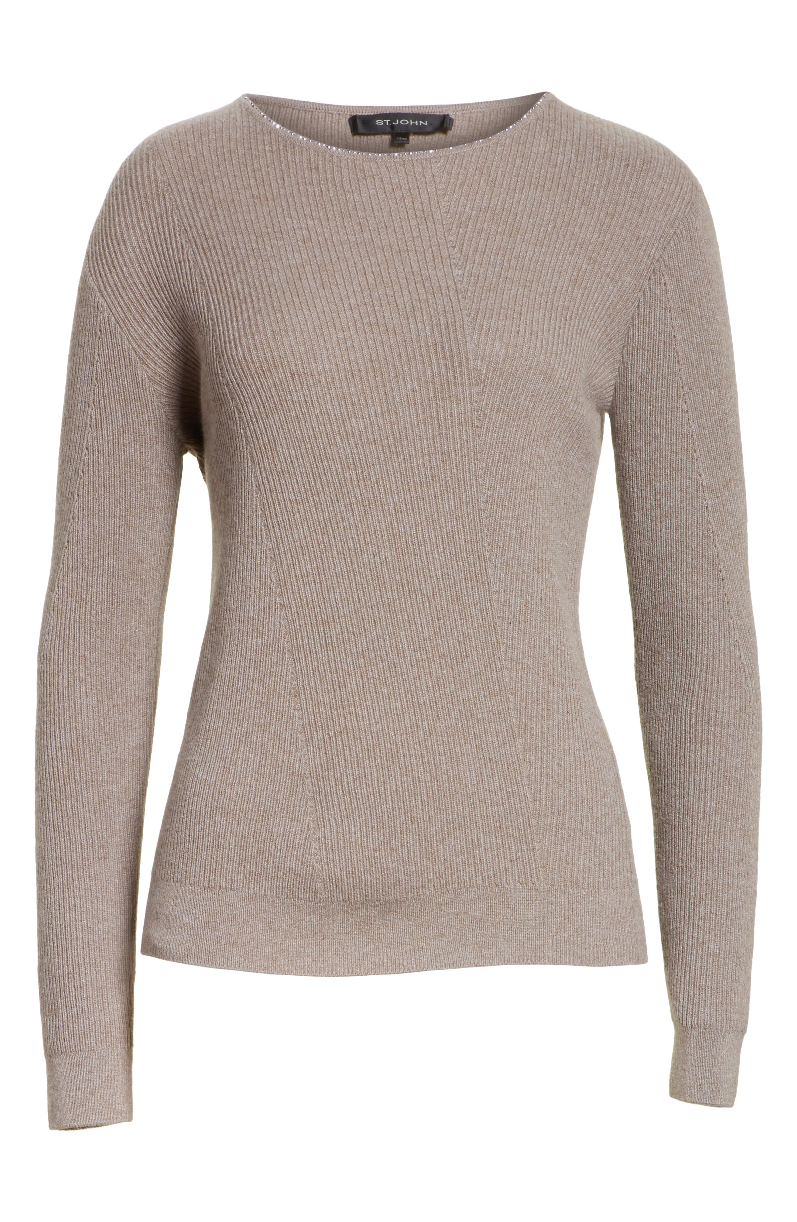 Cashmere Sweater,                             Alternate thumbnail 6, color,                             030