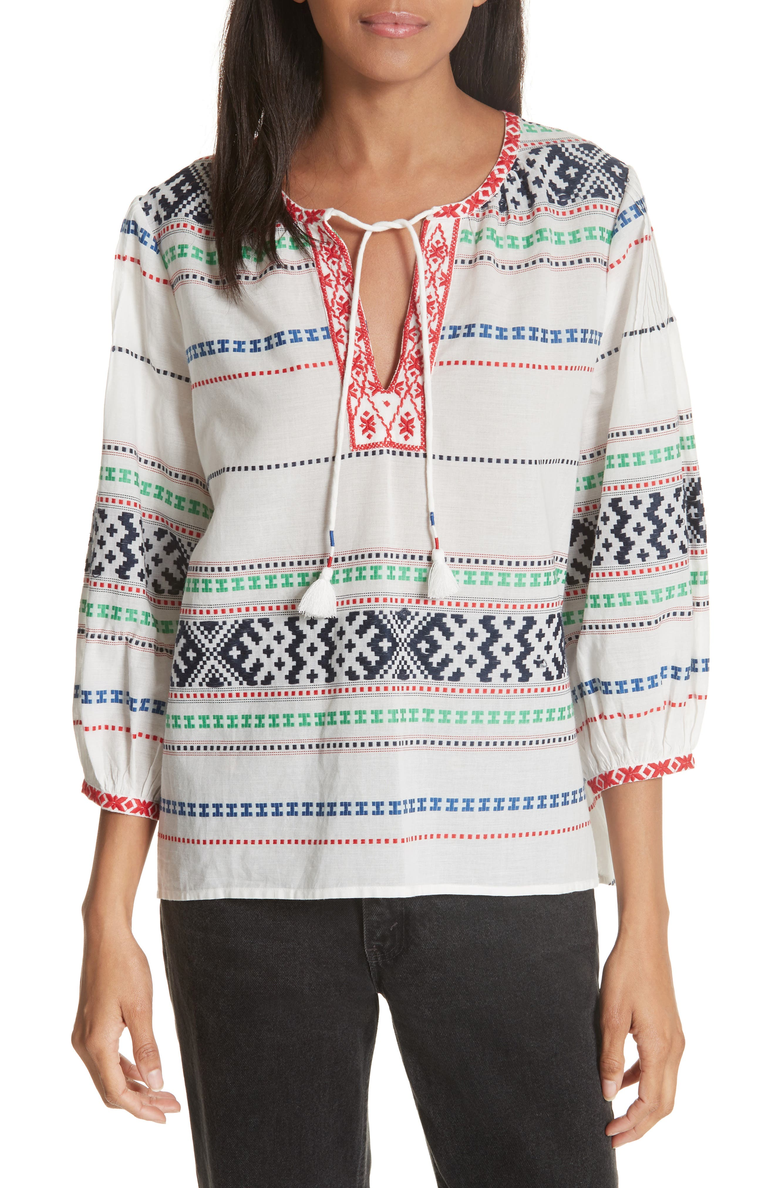 Jenollina Embroidered Top,                         Main,                         color, 114