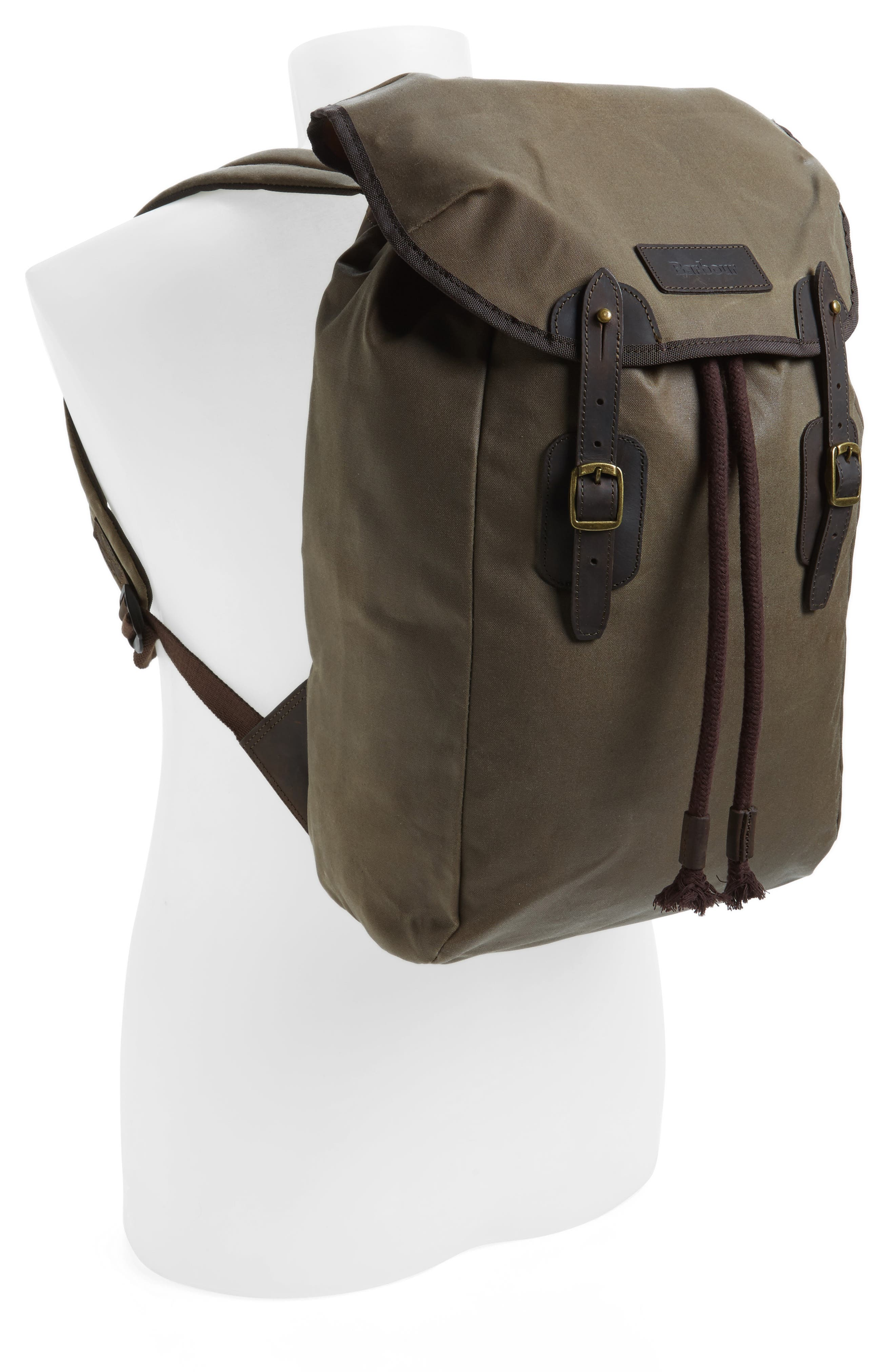 Waxed Canvas Backpack,                             Alternate thumbnail 2, color,                             220