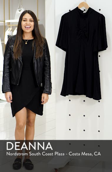 Be My Baby Ruched Front Elbow Sleeve Dress, sales video thumbnail