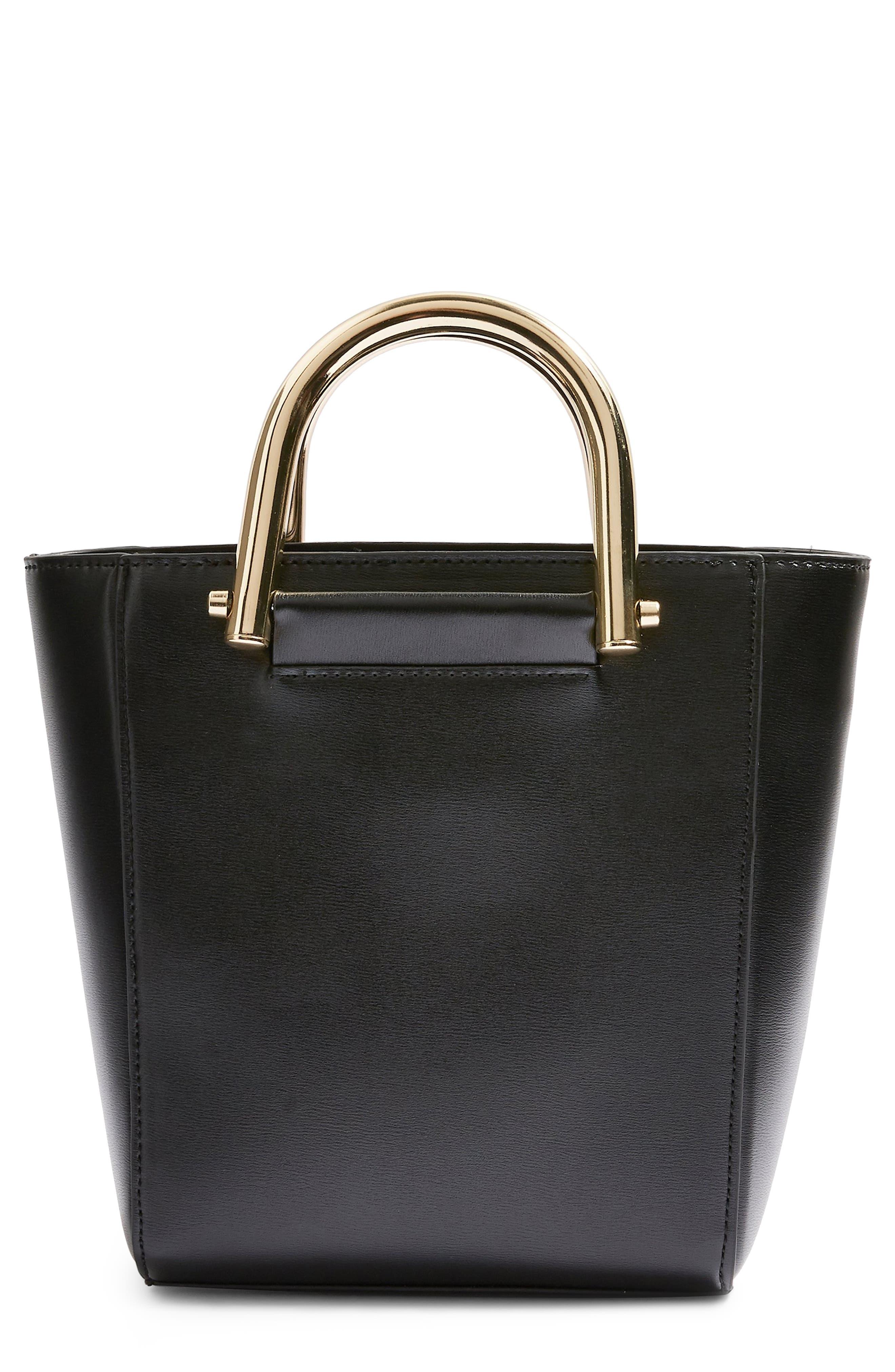 TOPSHOP,                             Lacey Metal Top Handle Shoulder Bag,                             Main thumbnail 1, color,                             001
