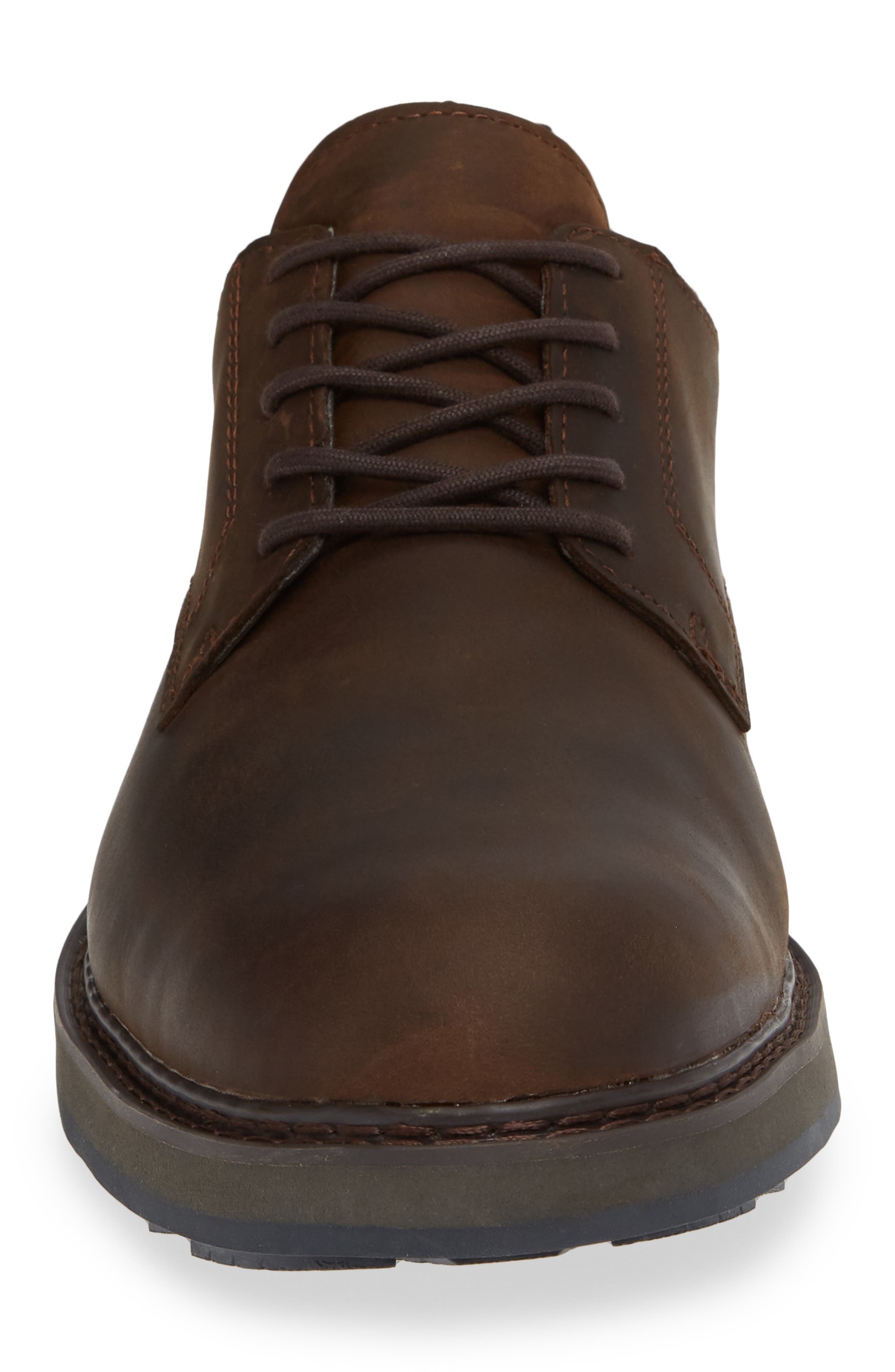 Squall Canyon Waterproof Plain Toe Derby,                             Alternate thumbnail 4, color,                             BROWN LEATHER